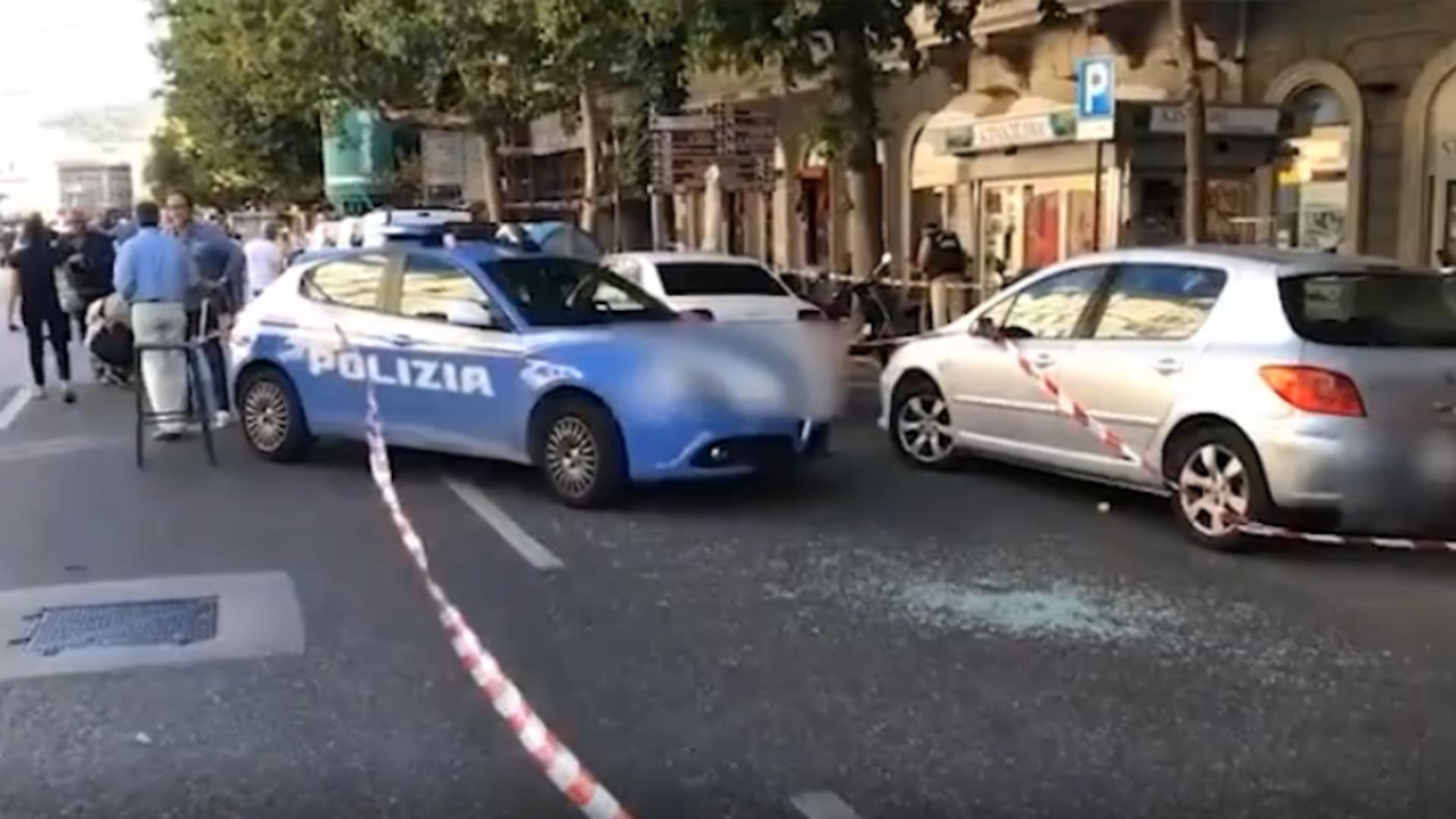 Incident armat într-un oraș din Italia/ Captură foto
