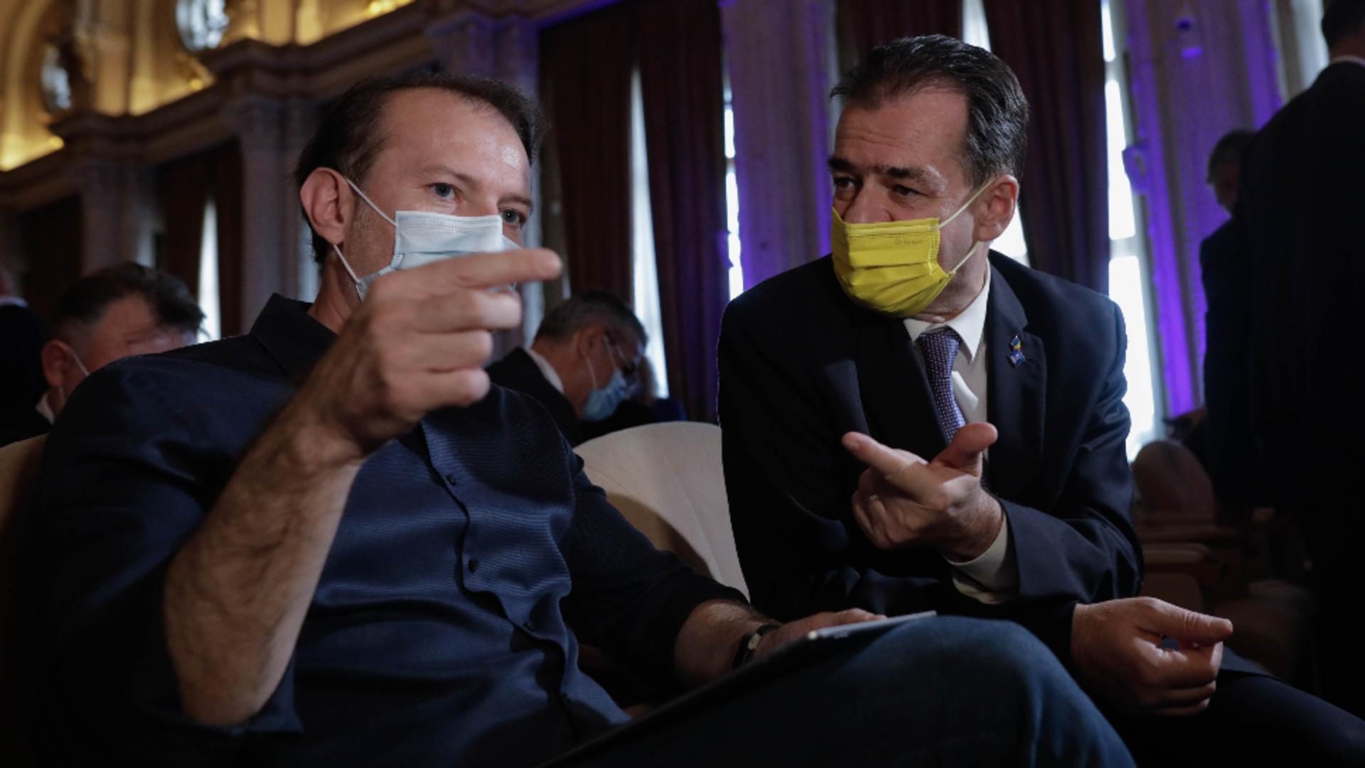 Florin Cîțu și Ludovic Orban. Foto: Inquam  / George Călin