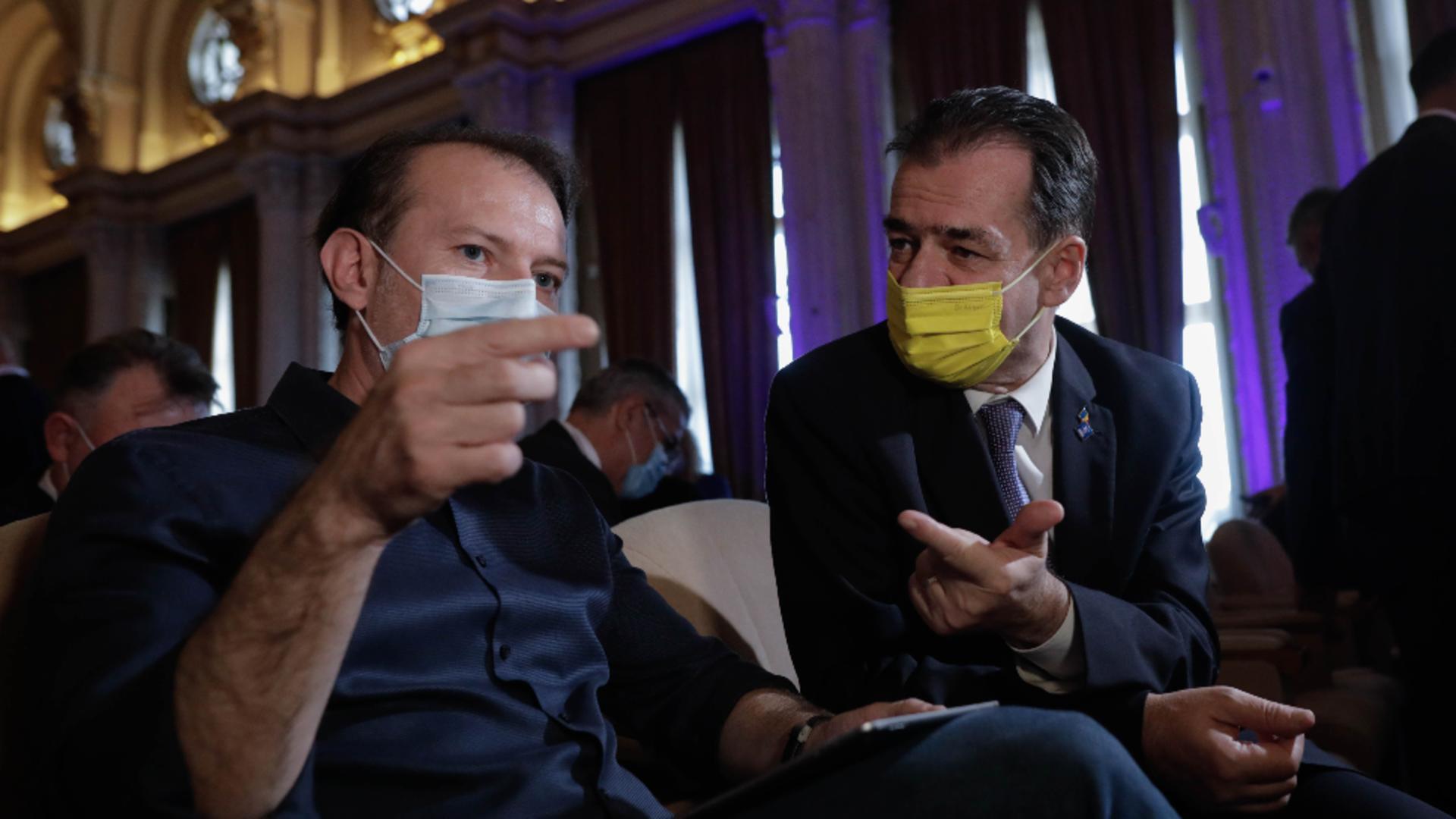 Florin Cîțu și Ludovic Orban / Foto: Inquam Photos
