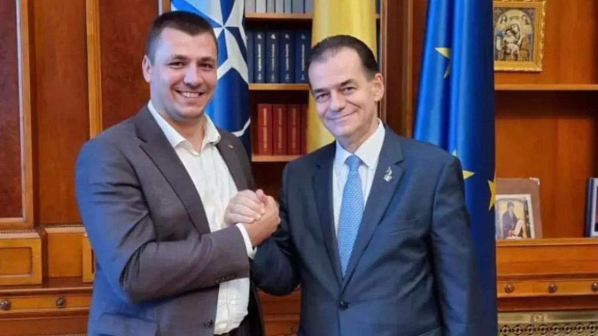 Cristian Opriș și Ludovic Orban. Foto: captură Facebook