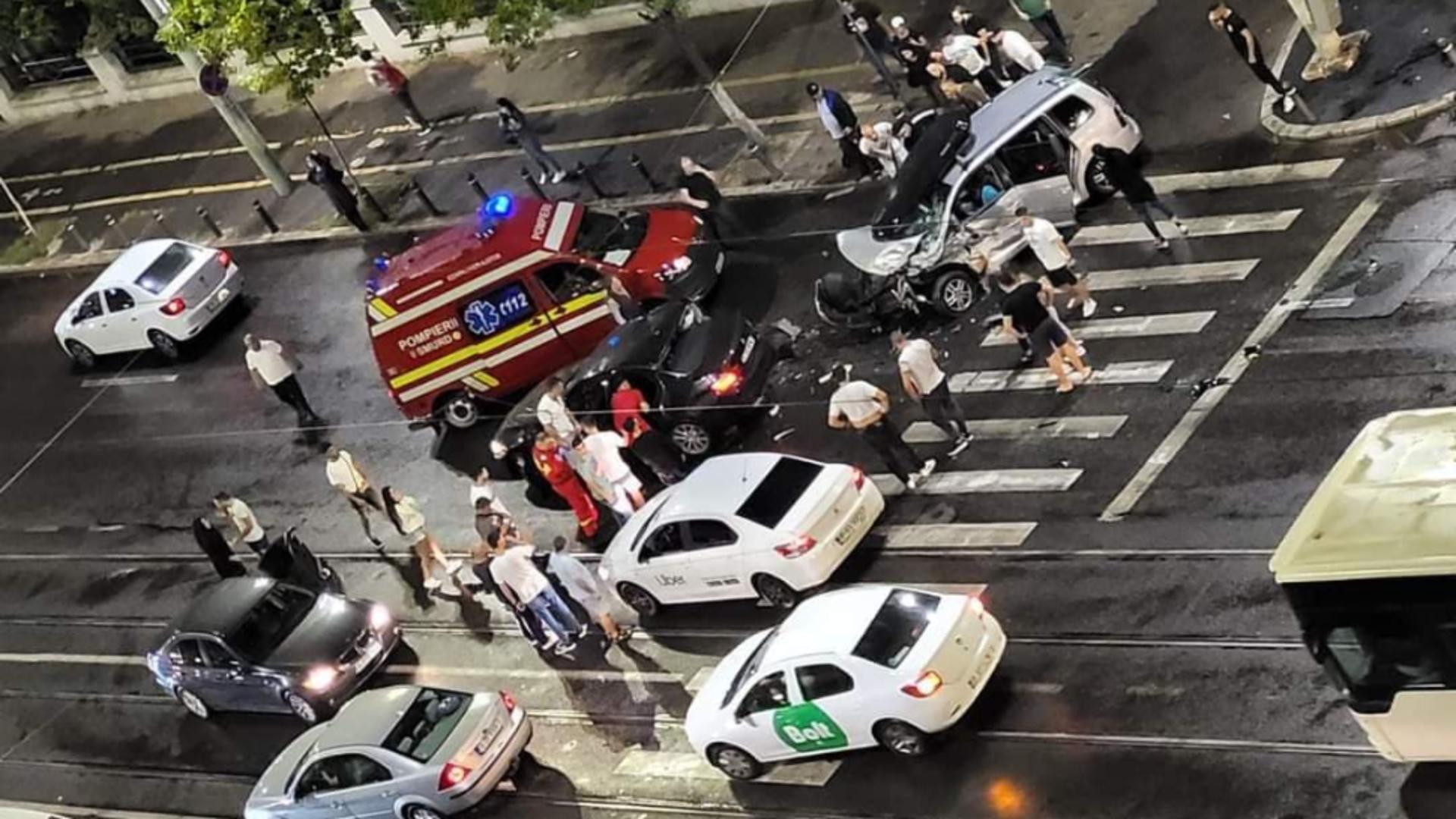 Accident în București. Foto: Infotrafic