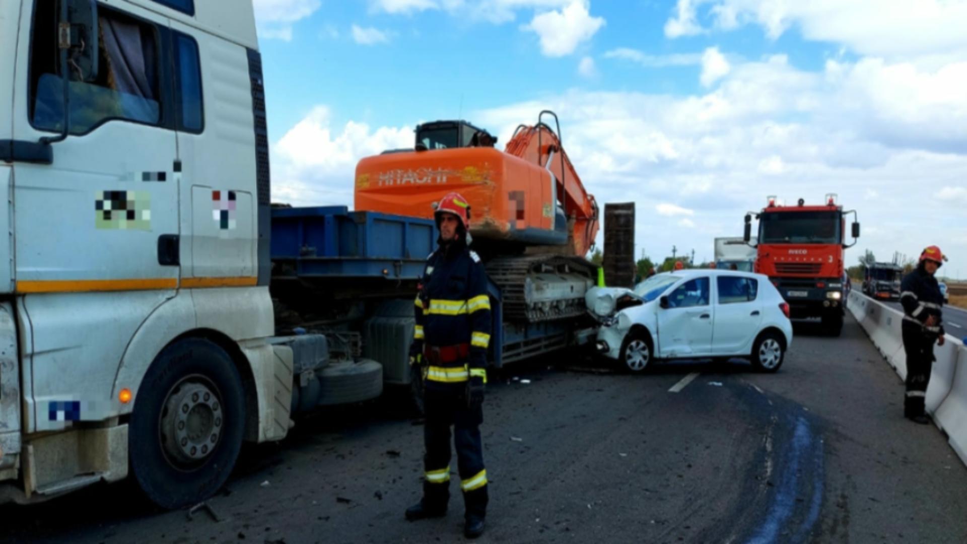 Accident DN5, jud Giurgiu