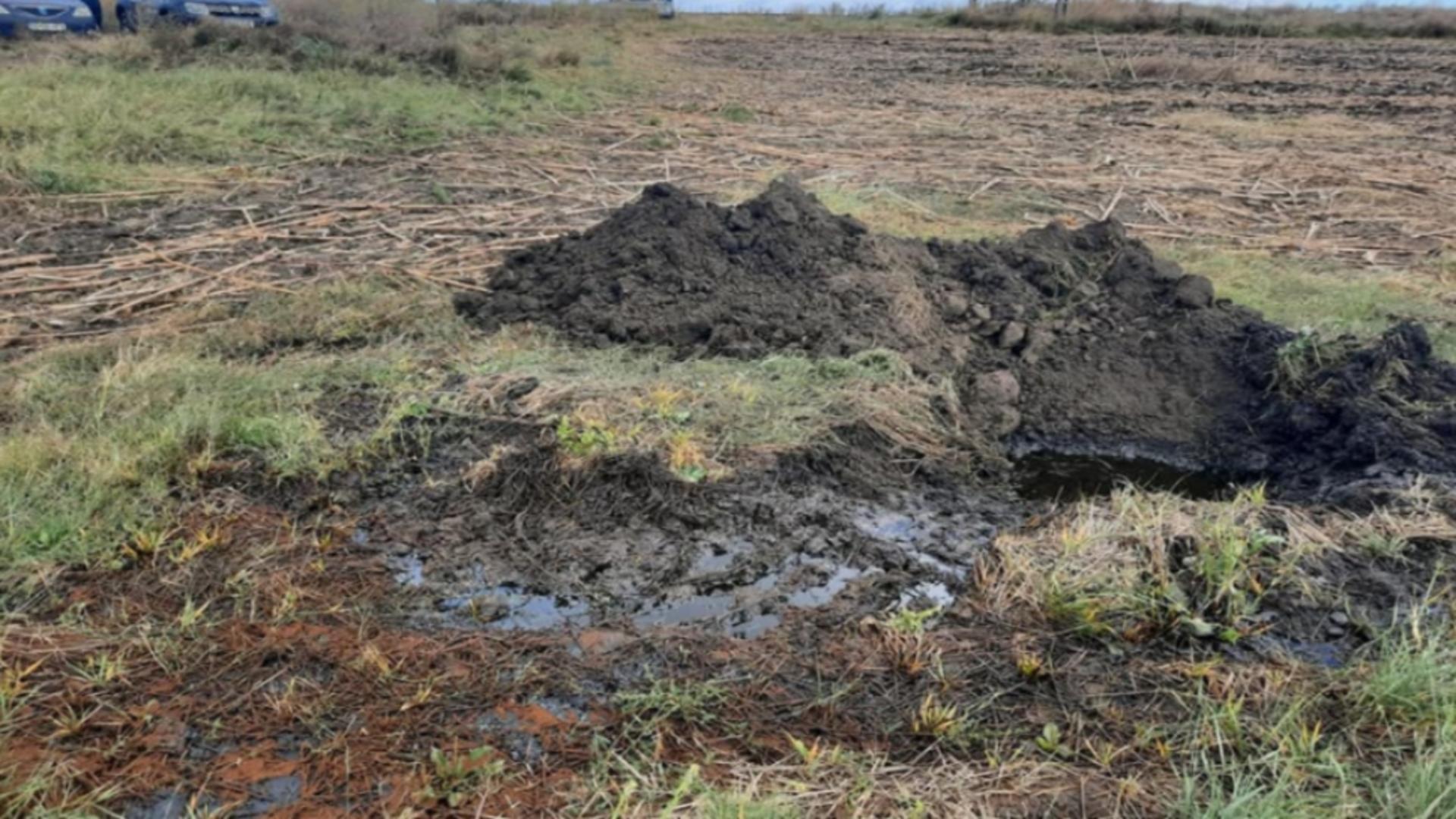 Poluare petrol județul Galați