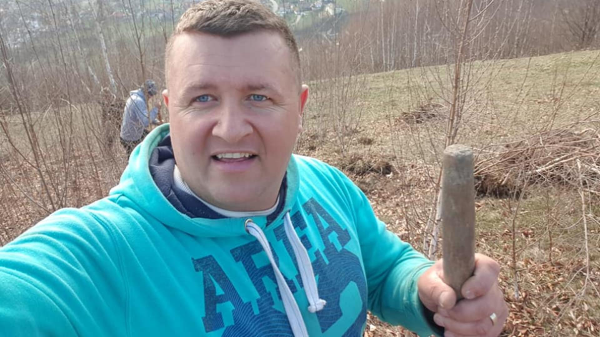 Cpirian Robert Tamaș, primar comuna Șuletea, jud. Vaslui / Foto: Facebook