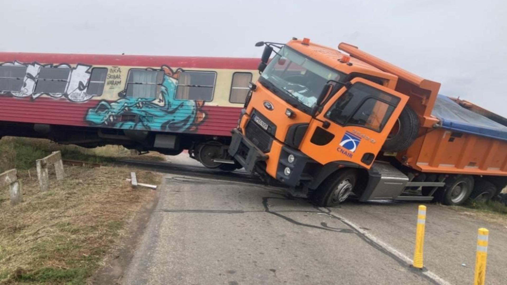 Accident feroviar grav. Foto: ISU Timiș