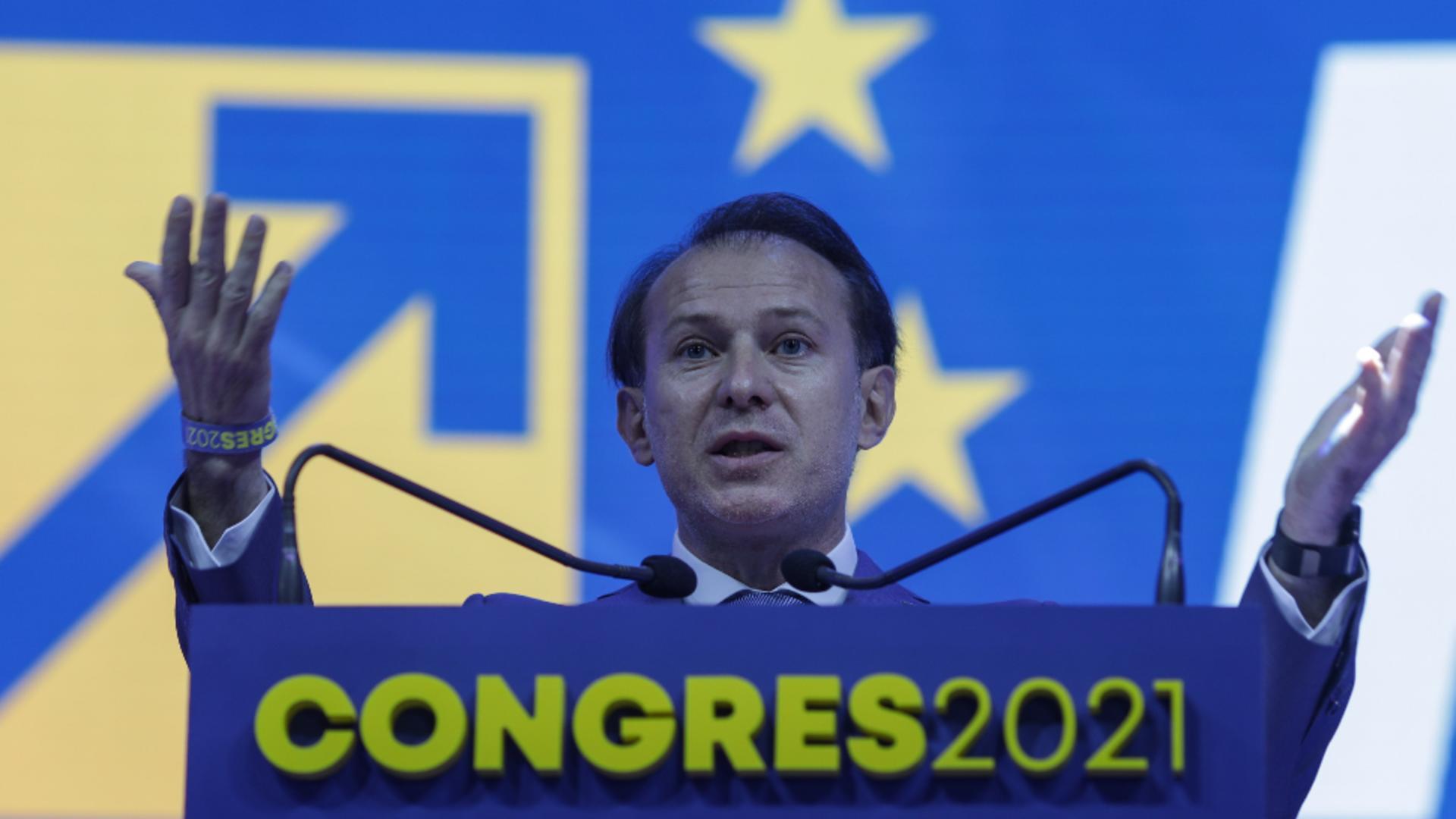 Florin Cîțu, premier, la Congresul PNL, 25 septembrie 2021 Foto: INQUAM/Octav Ganea