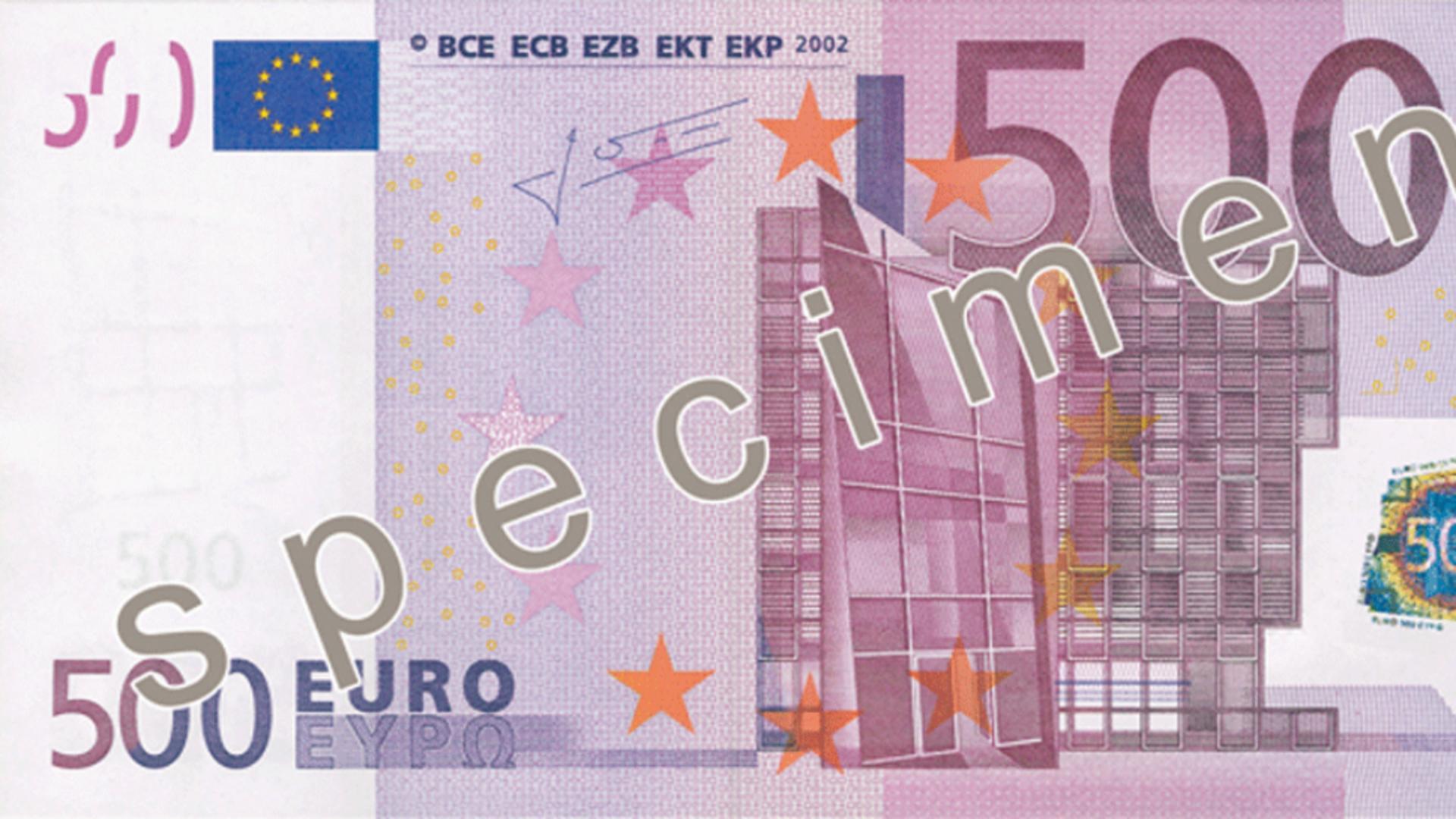 Bancnota de 500 de euro
