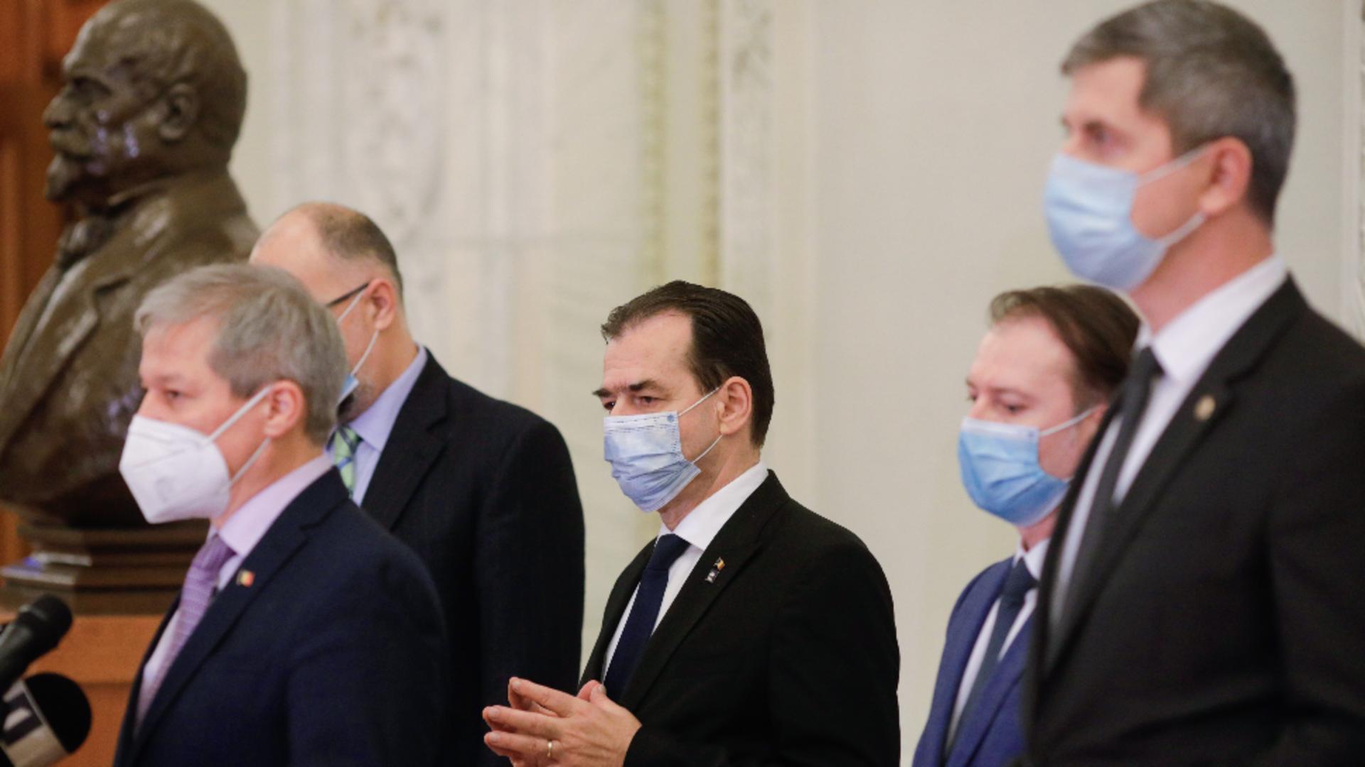 Liderii Coaliției și premierul Florin Cîțu (arhivă)