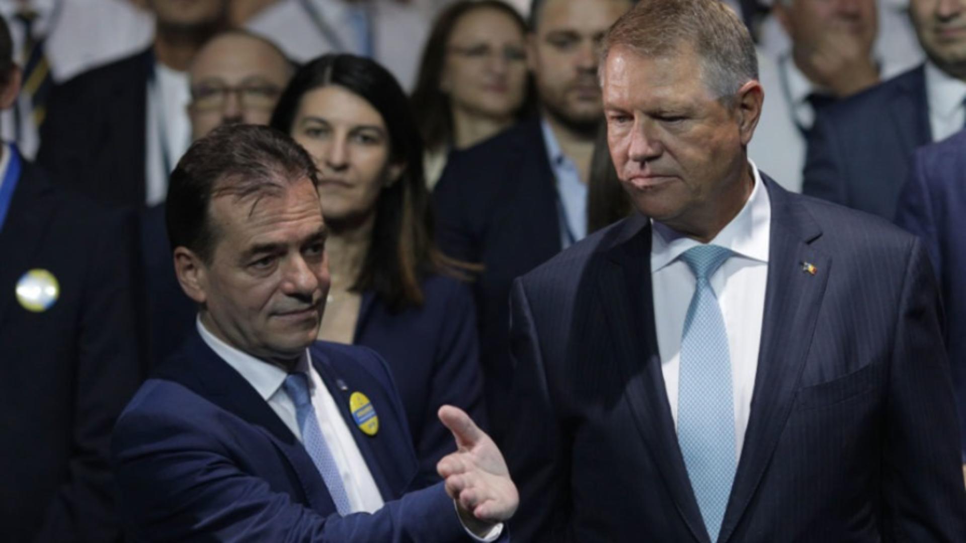 Ludovic Orban și Klaus Iohannis Foto: INQUAM/Octav Ganea