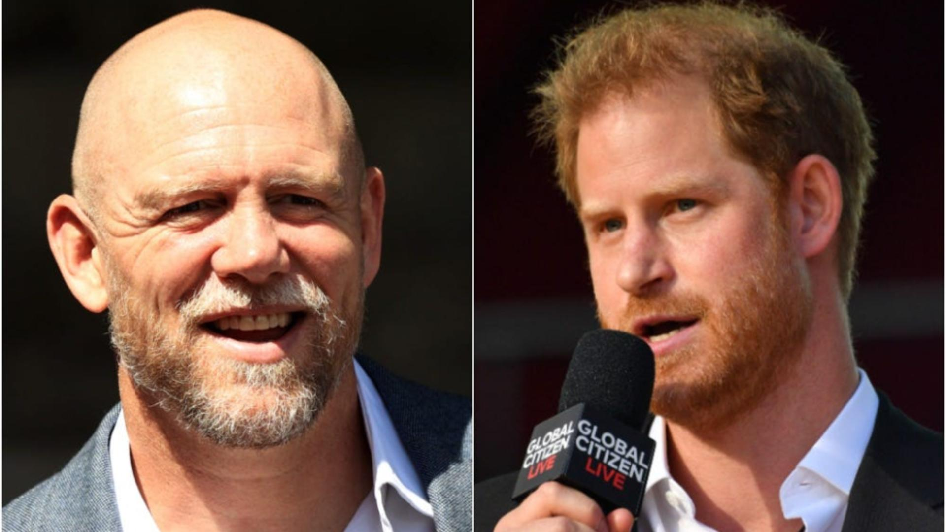Mike Tindall și prinţul Harry. FOTO: Getty Images