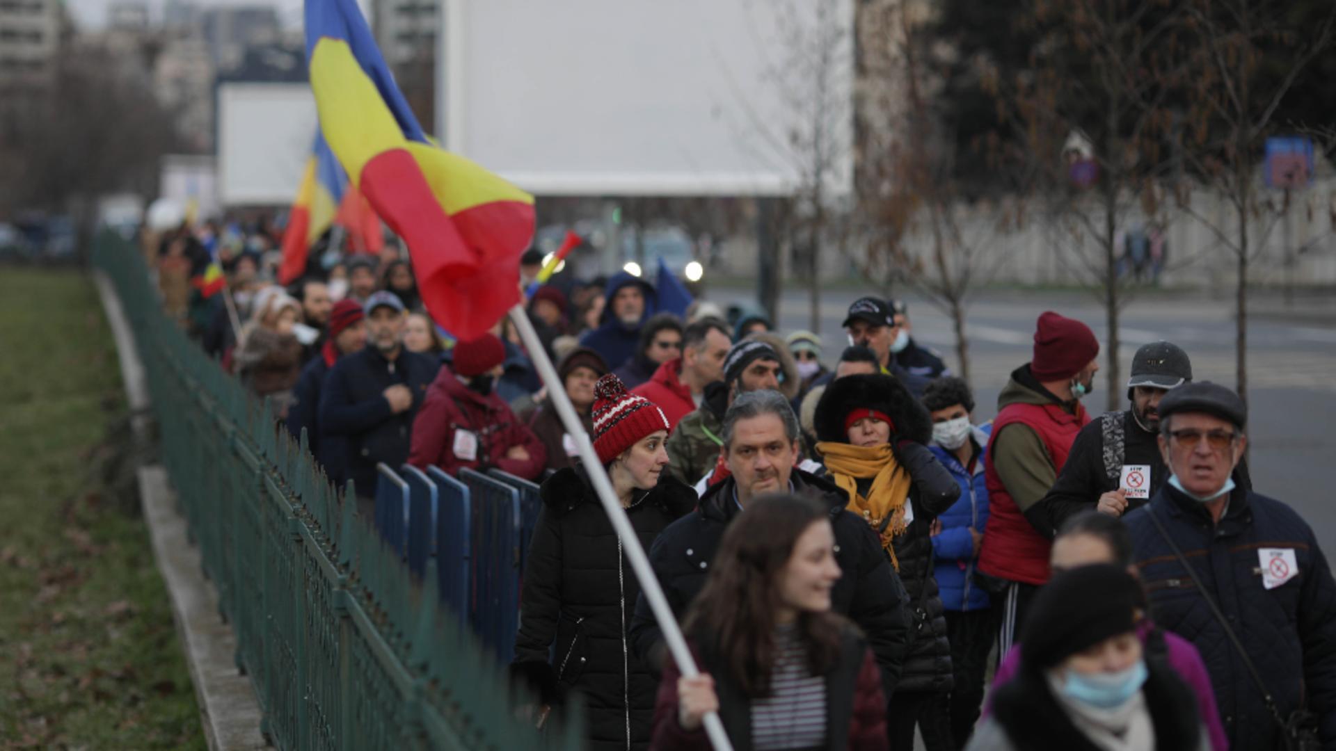 Protest antirestricții Capitală / Foto: Inquam Photos / Octav Ganea