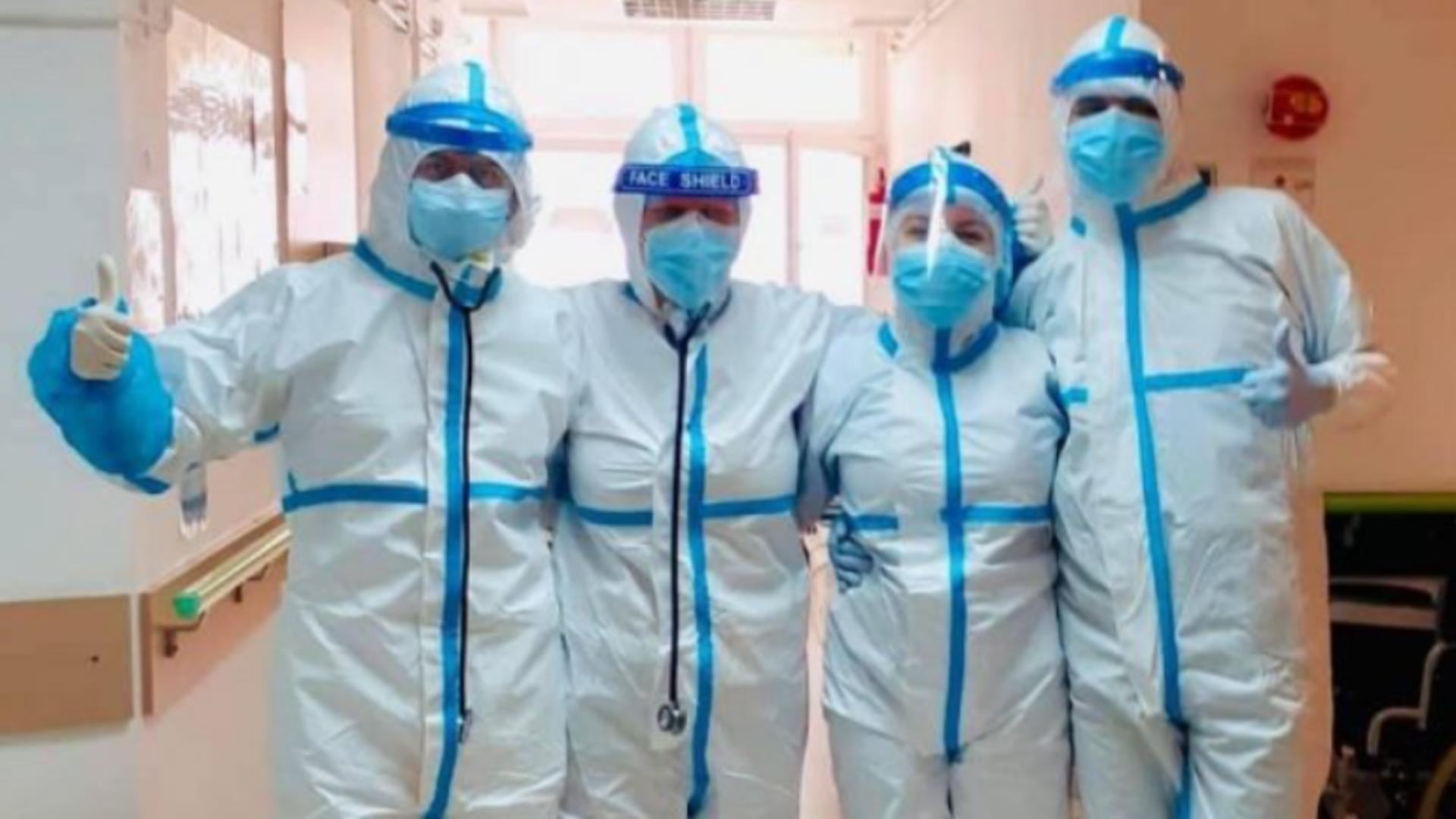 Medicul Teodora Iacob de la Clinica de Boli Infecțioase Cluj și colegii săi / Captură foto Foaia Transilvană