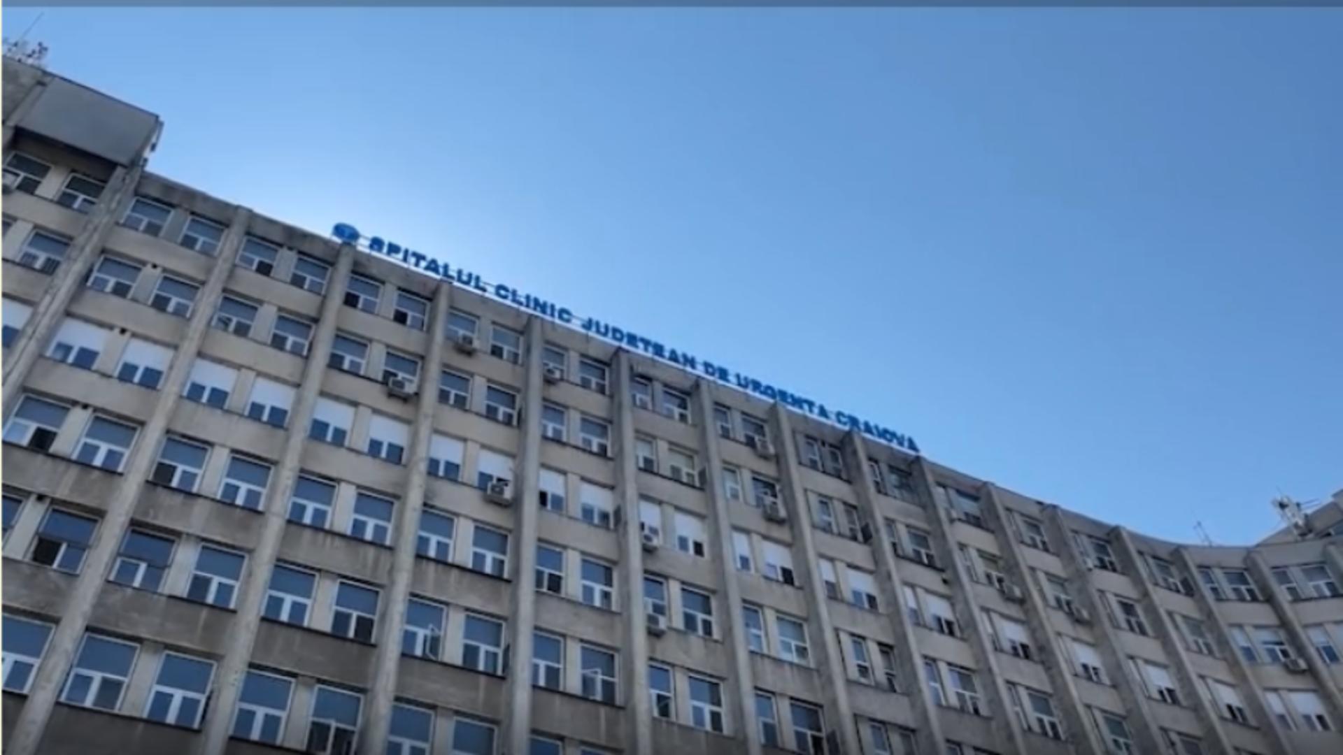 Spitalul Clinic Județean de Urgență Craiova / Captură video