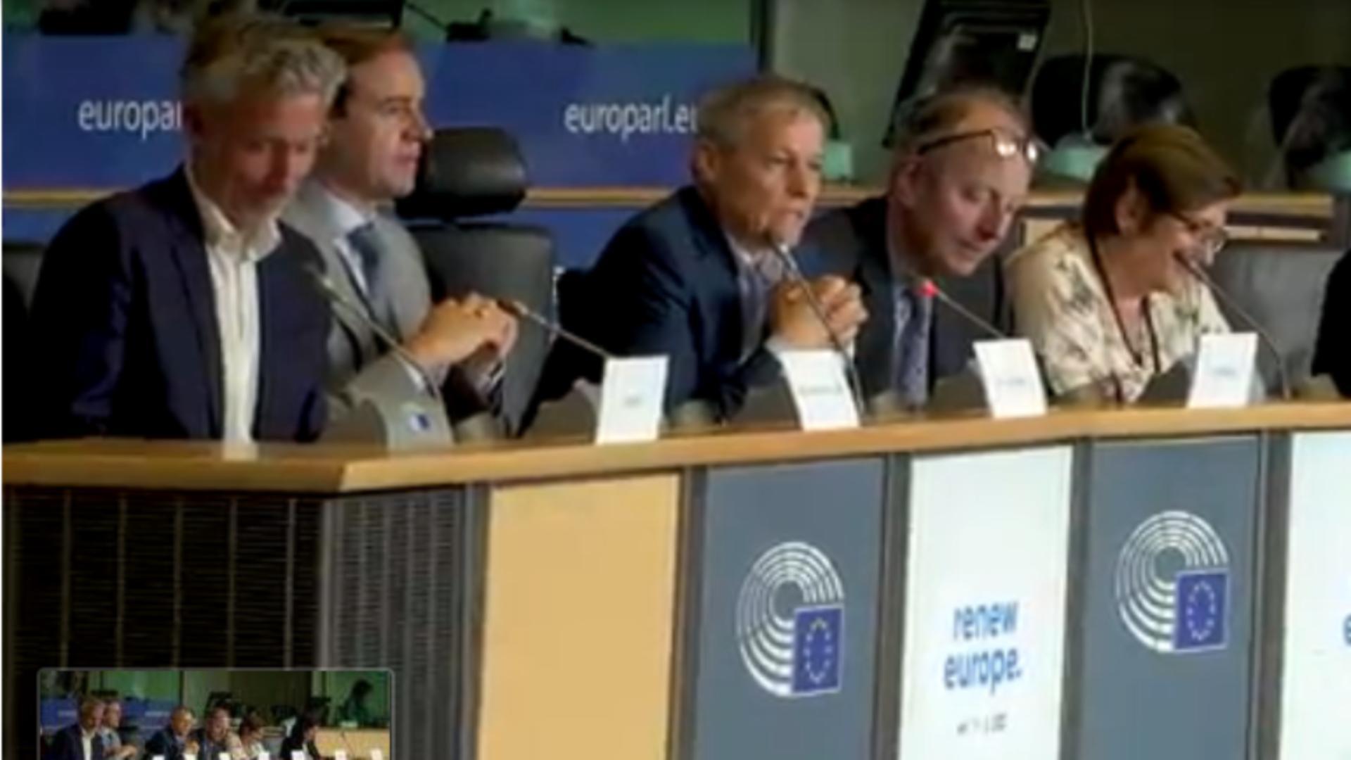 Grupul Renew Europe / Captură foto Parlamentul European