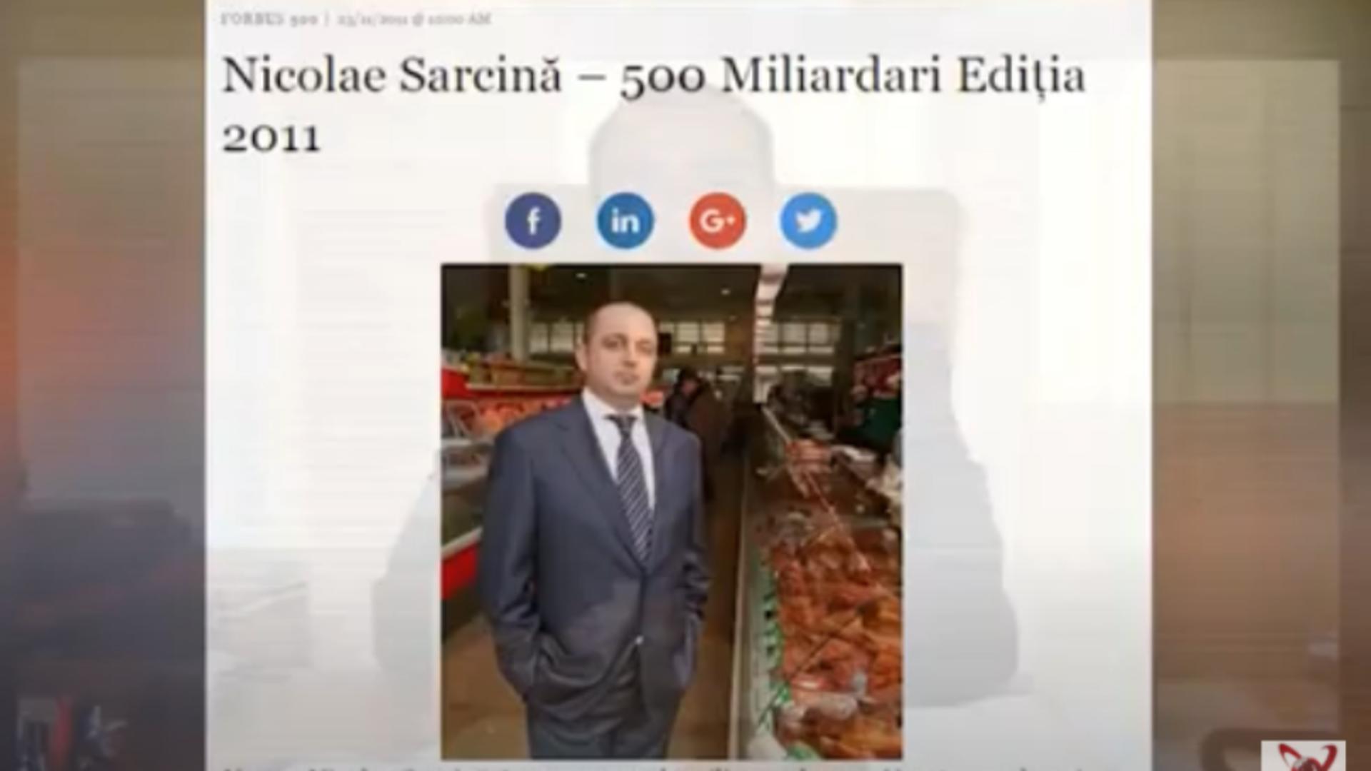 Nicolae Sarcină / Captură foto