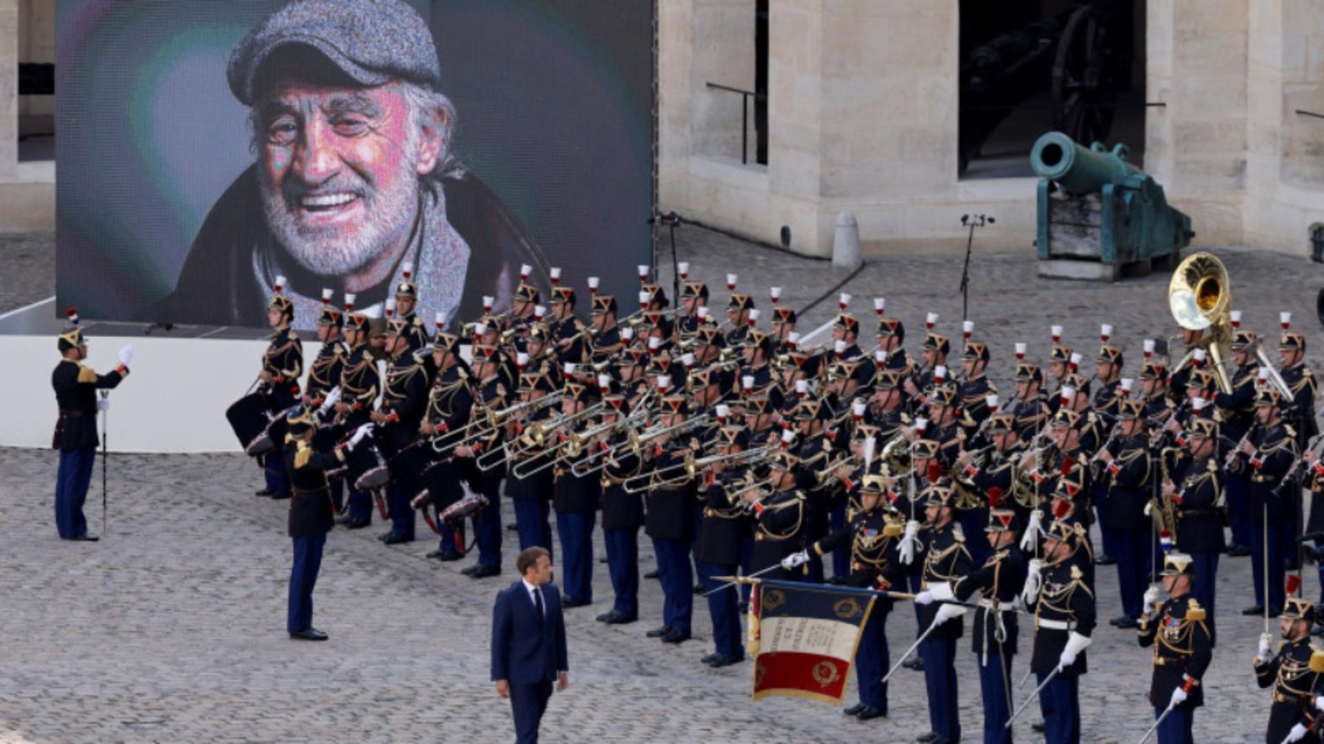 Ceremonie fastuoasă dedicată lui Jean-Paul Belmondo, la Paris. Foto: Profimedia