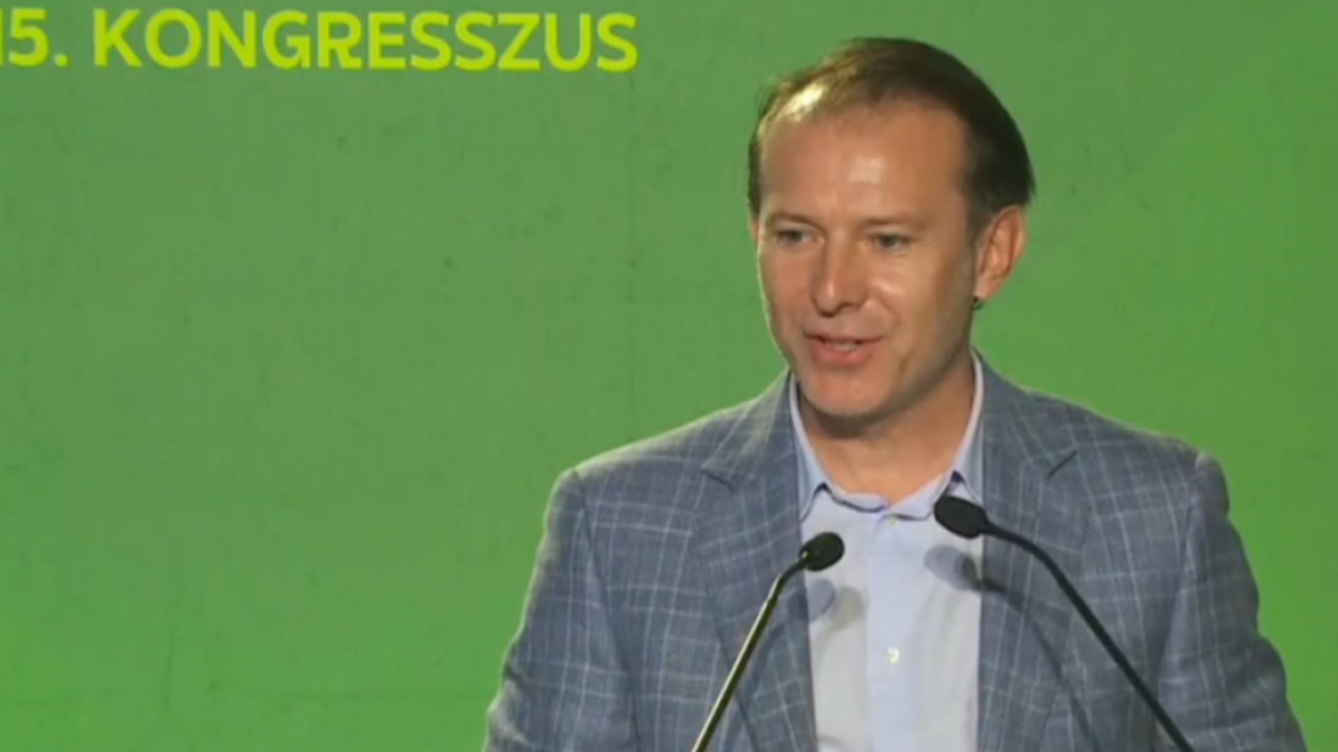 Florin Cîțu, mesaj în maghiară la congresul UDMR