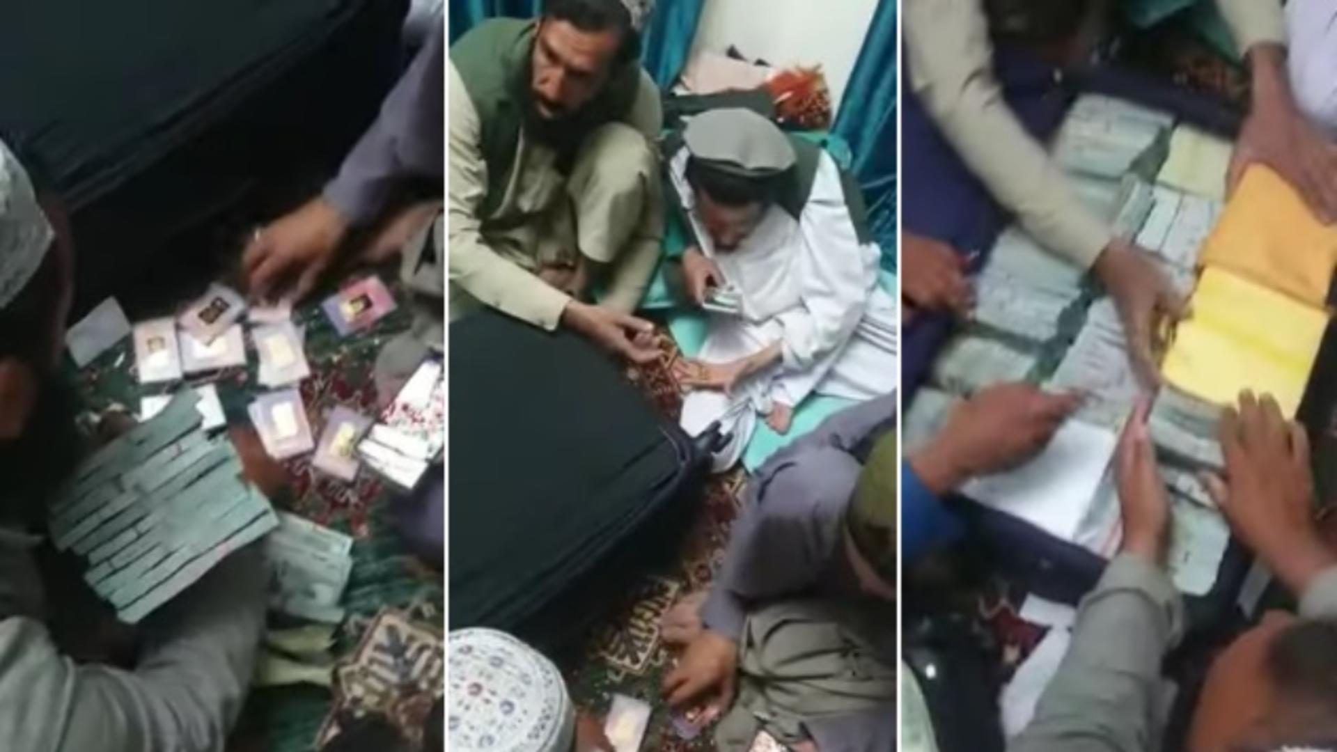 Milioane de dolari și lingouri de aur, confiscate de talibani din casa unui politician