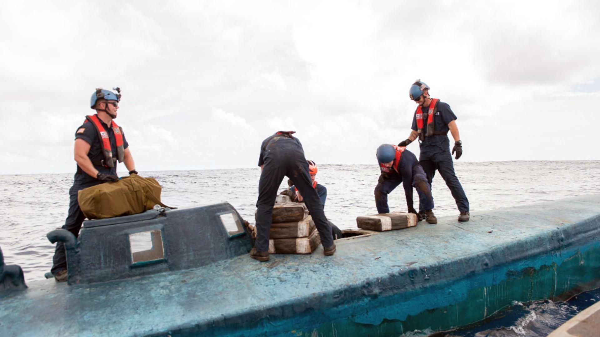Submarin cu 1,8 tone de cocaină, capturat în Columbia. Foto/Profimedia