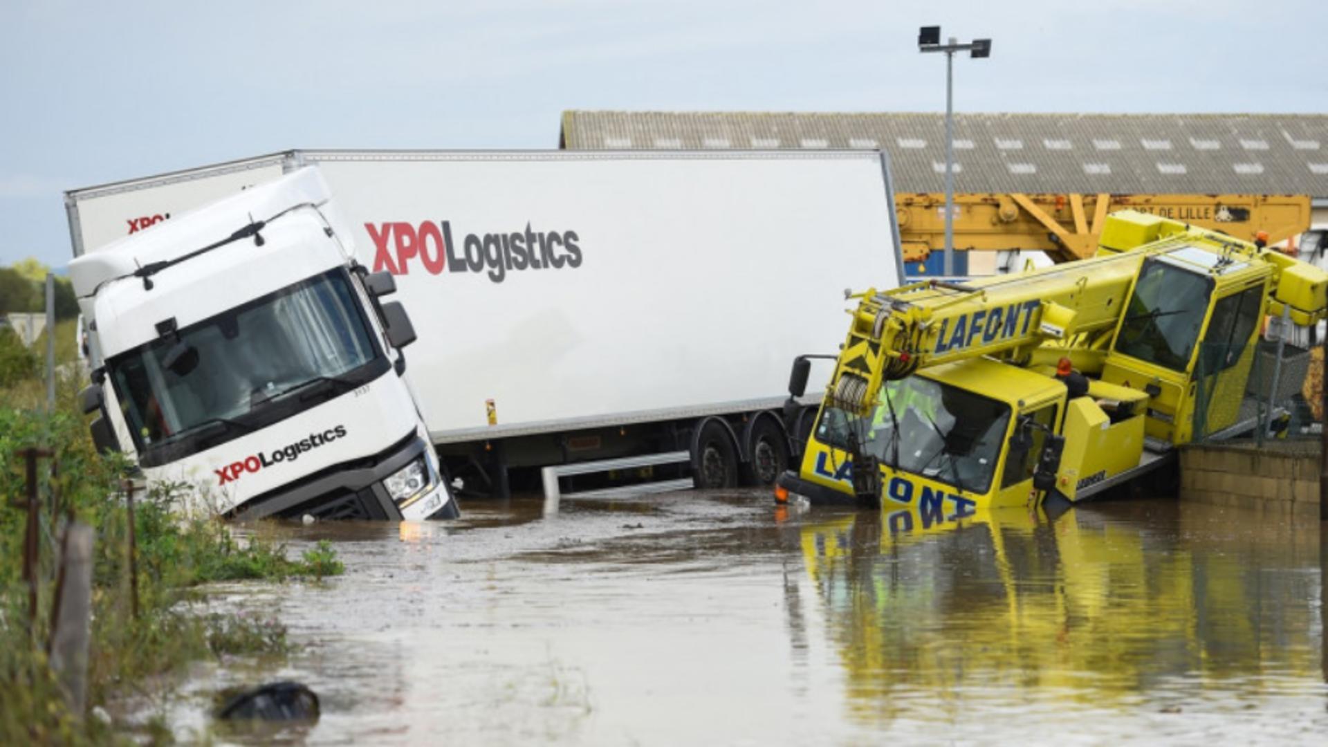 Inundații puternice în sudul Franței. Foto: Profimedia Images