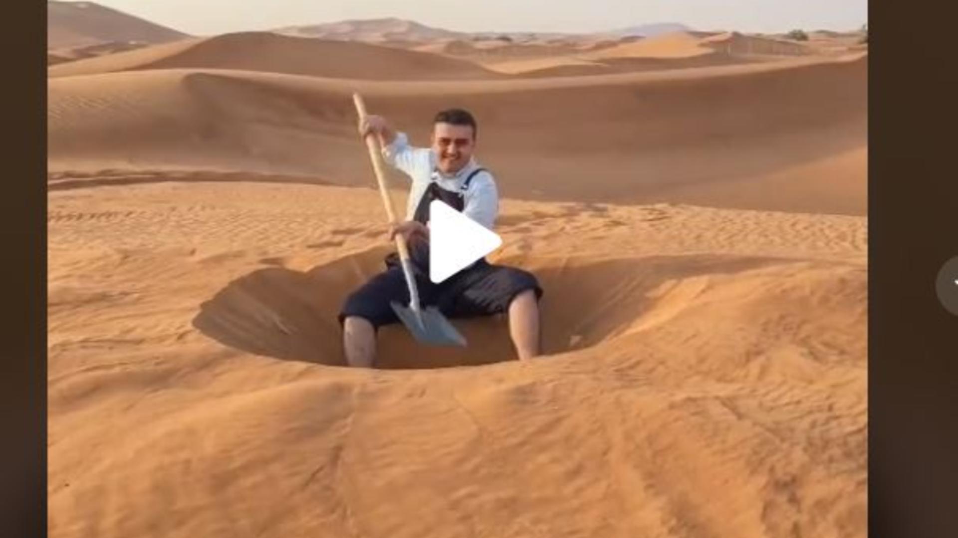Groapa sapata in deșert