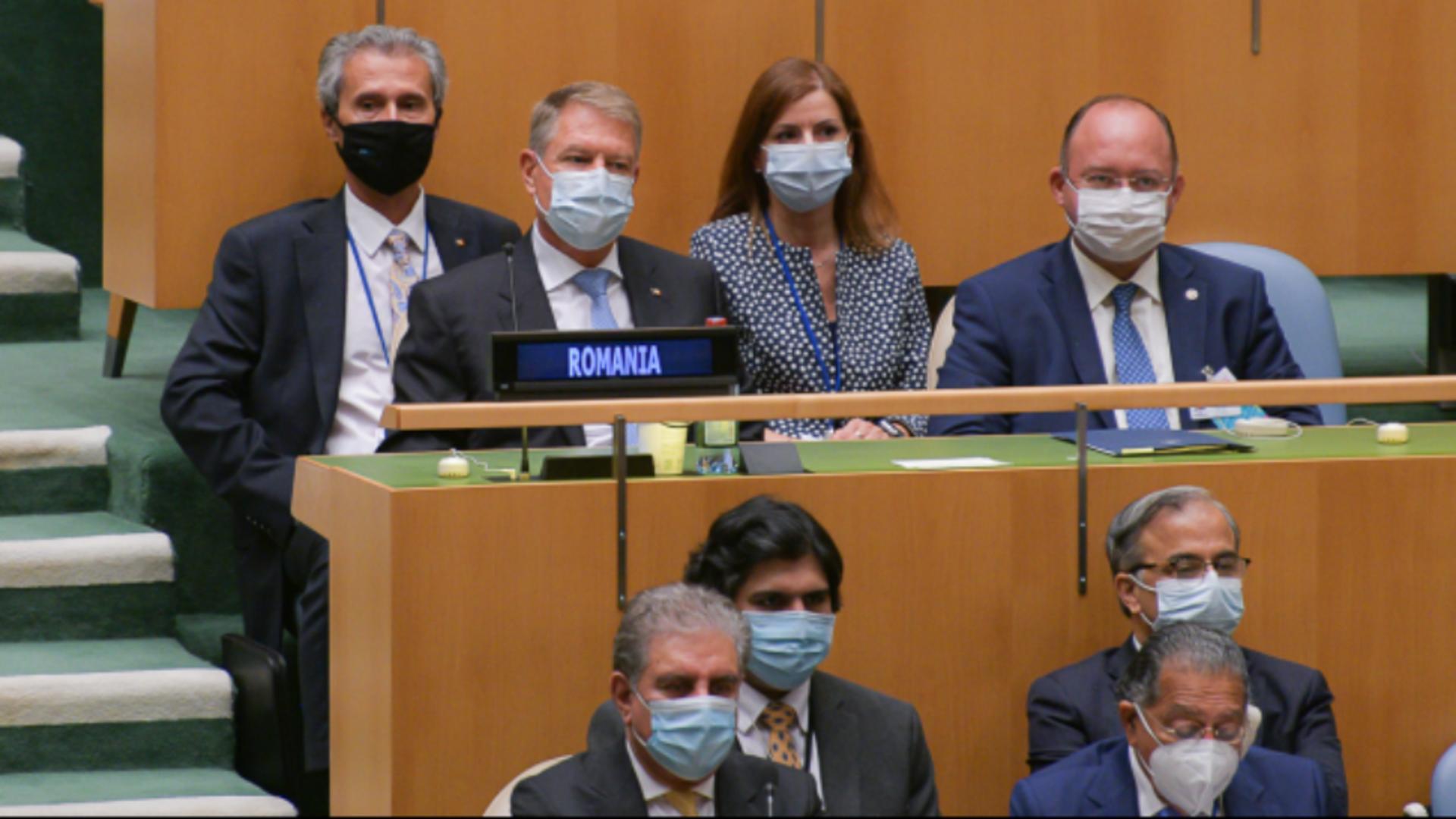 Klaus Iohannis, la lucrările Adunării Generale a ONU Foto: Presidency.ro
