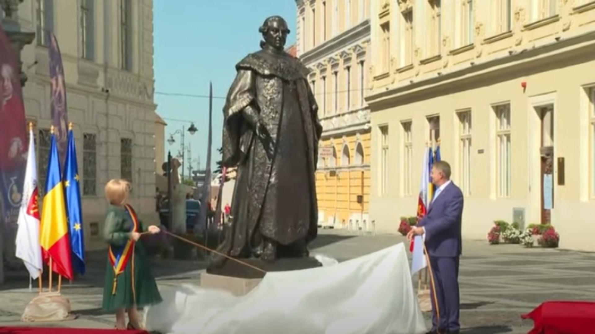 Klaus Iohannis, la dezvelirea statuii Samuel von Brukenthal