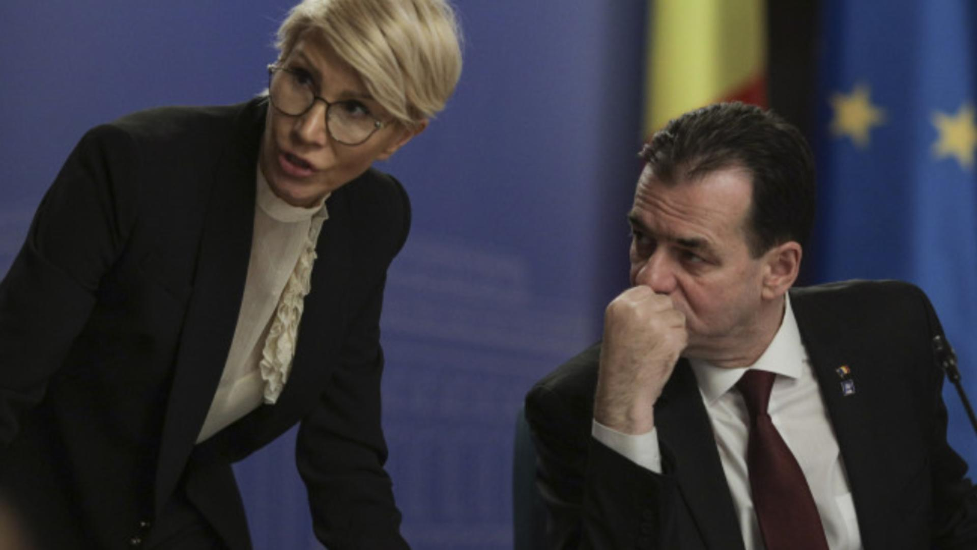 Raluca Turcan și Ludovic Orban Foto: INQUAM/Octav Ganea