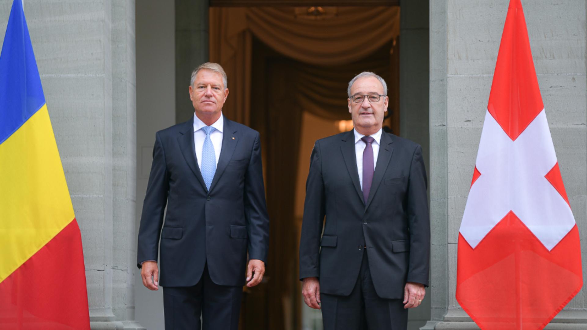 Klaus Iohannis și omologul său elvețian, Guy Parmelin / Foto: Administrația Prezidențială