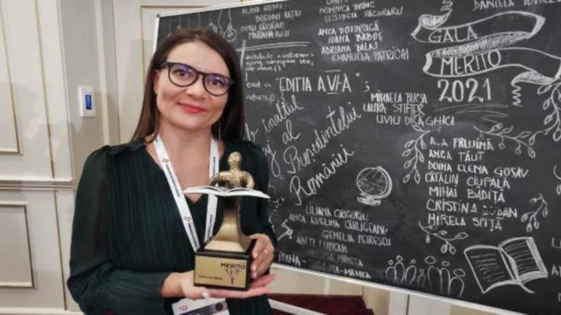 Adriana Bălaj, din Timișoara, premiată la Gala Excelenței în Educație