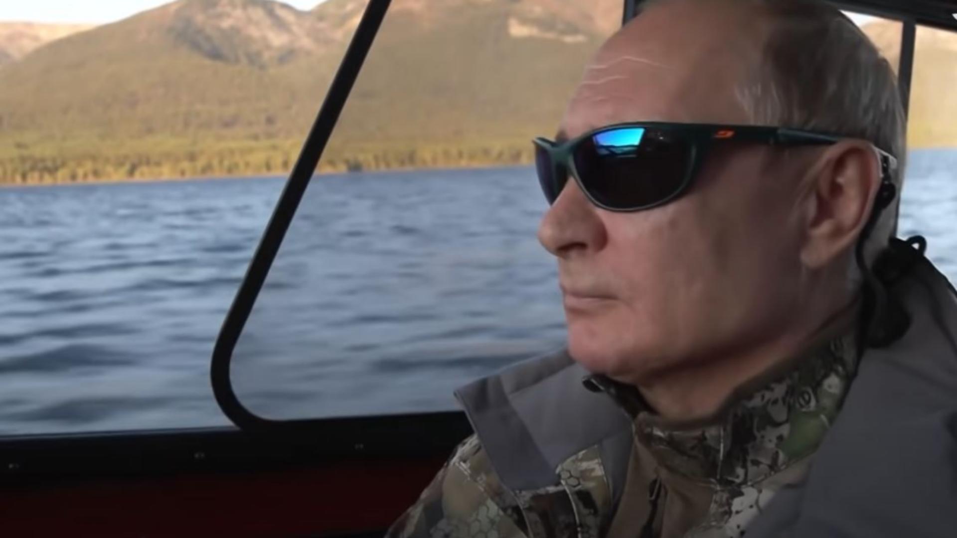 Putin, din nou în rol de mascul Alfa. Foto/Captură video