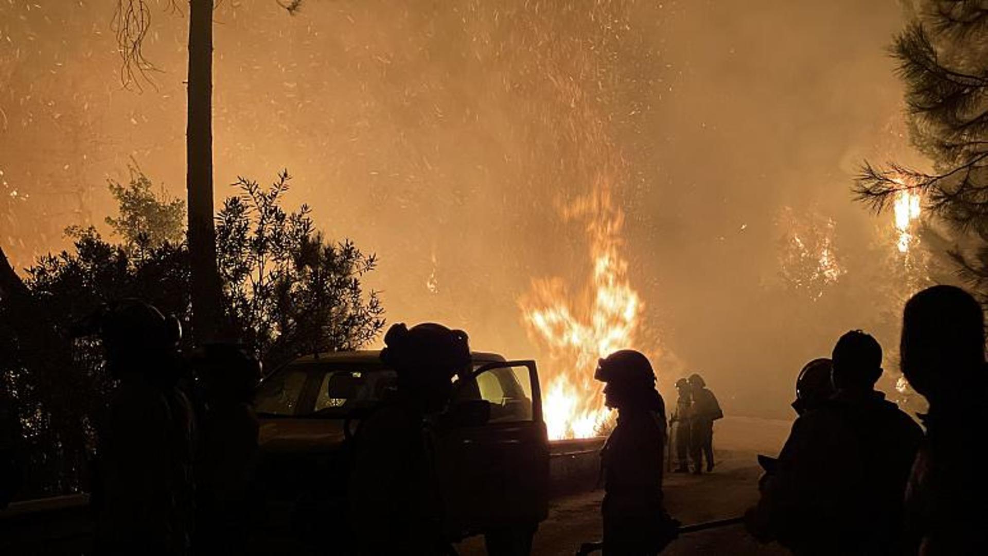 Incendiu de vegetaţie în sudul Spaniei