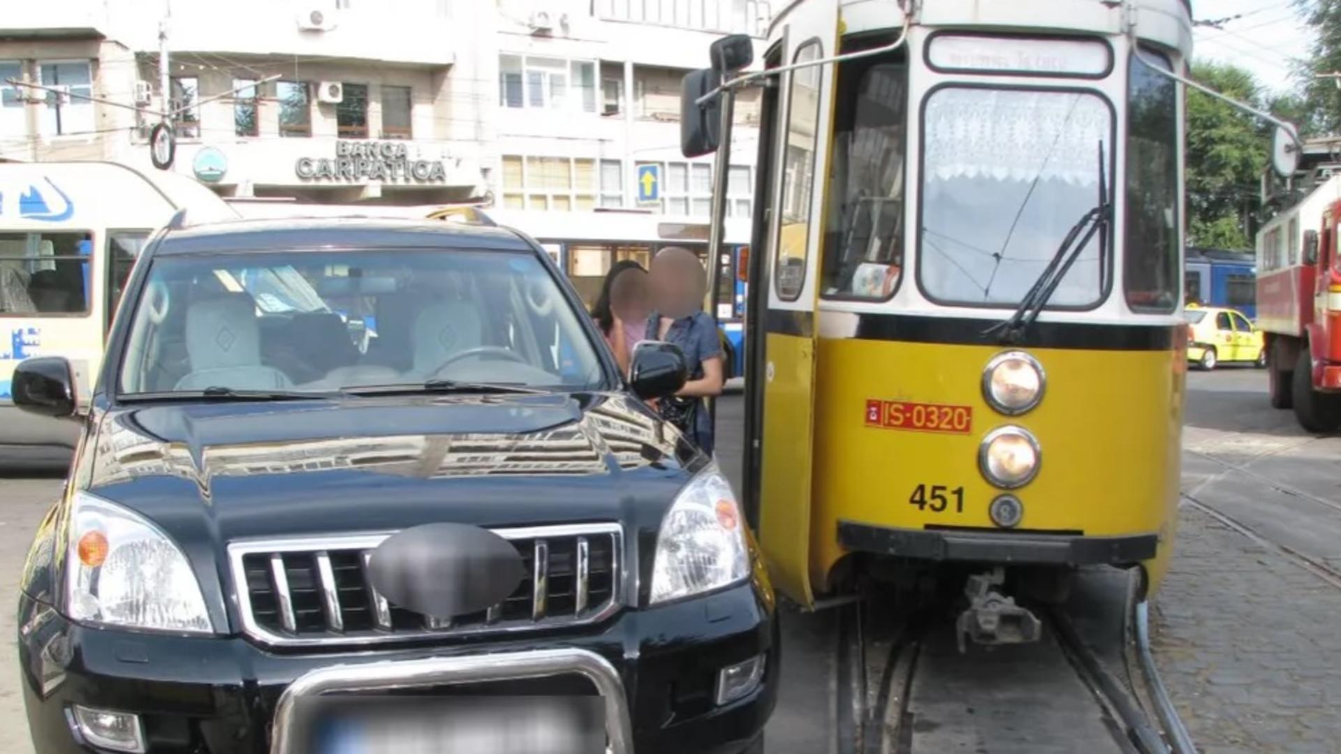 Tramvai blocat în Iași