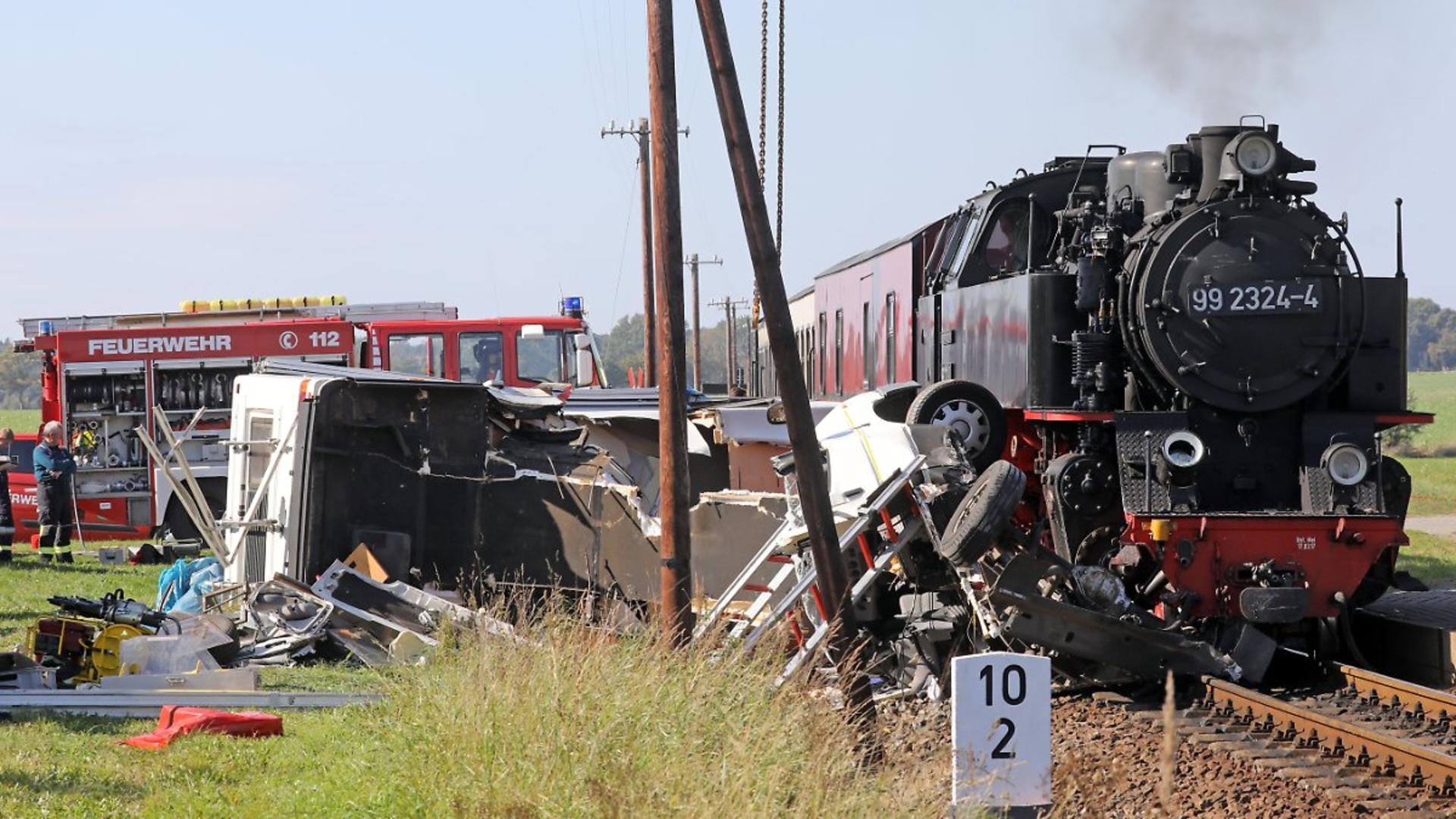 Accident feroviar grav, în Germania