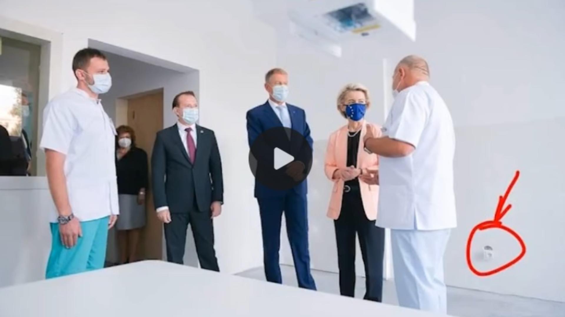 Fotografie virală după vizita șefei Comisiei Europene, Ursula von der Leyen, la București