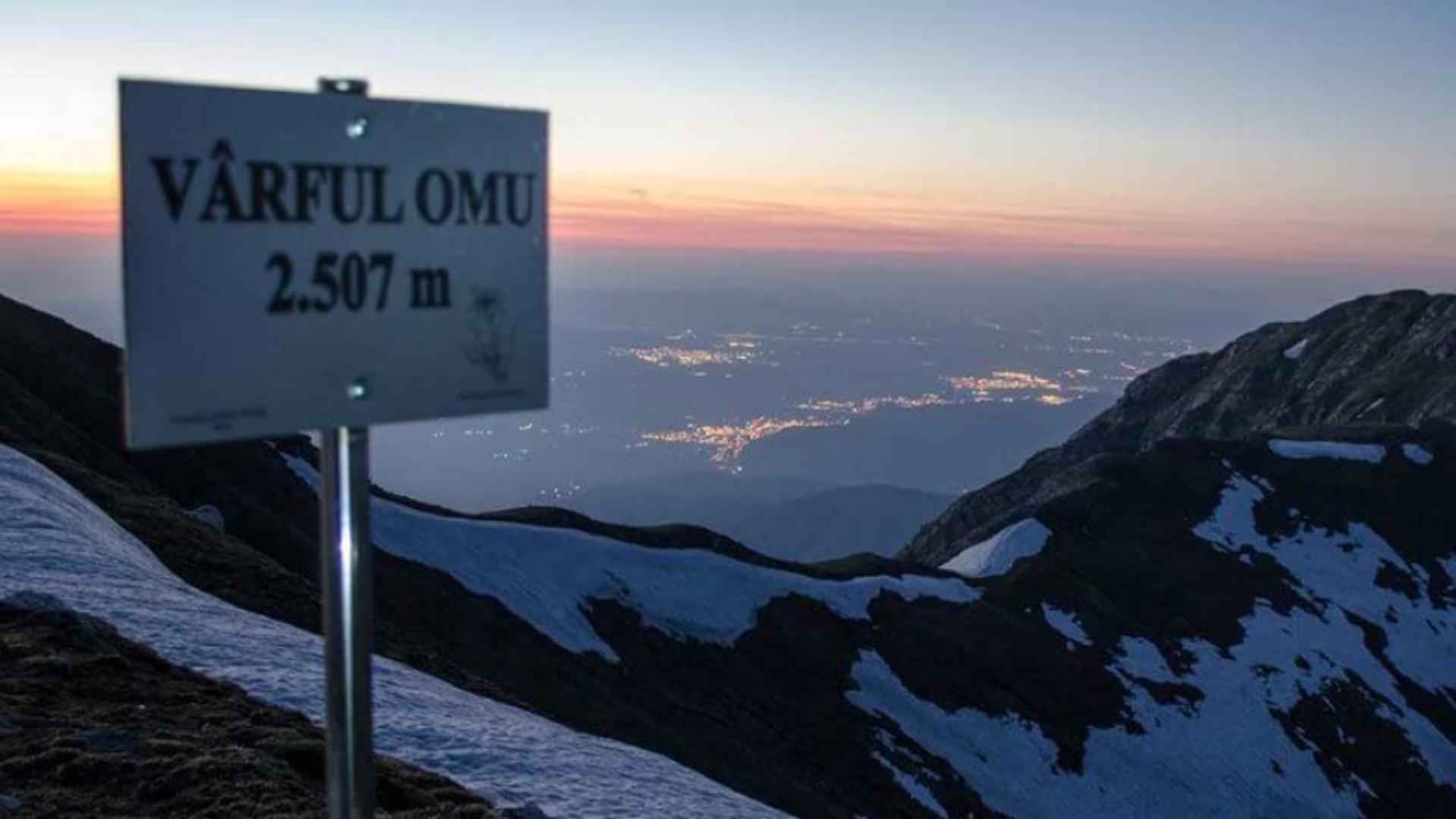 Imagine panoramică Vârful Omu