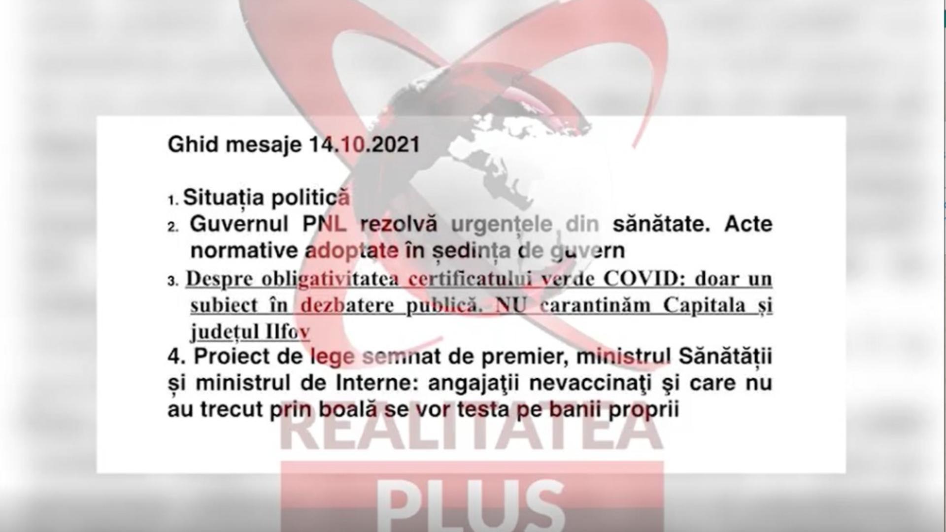 Punctaje PNL, transmise pentru liberali, în apariții TV