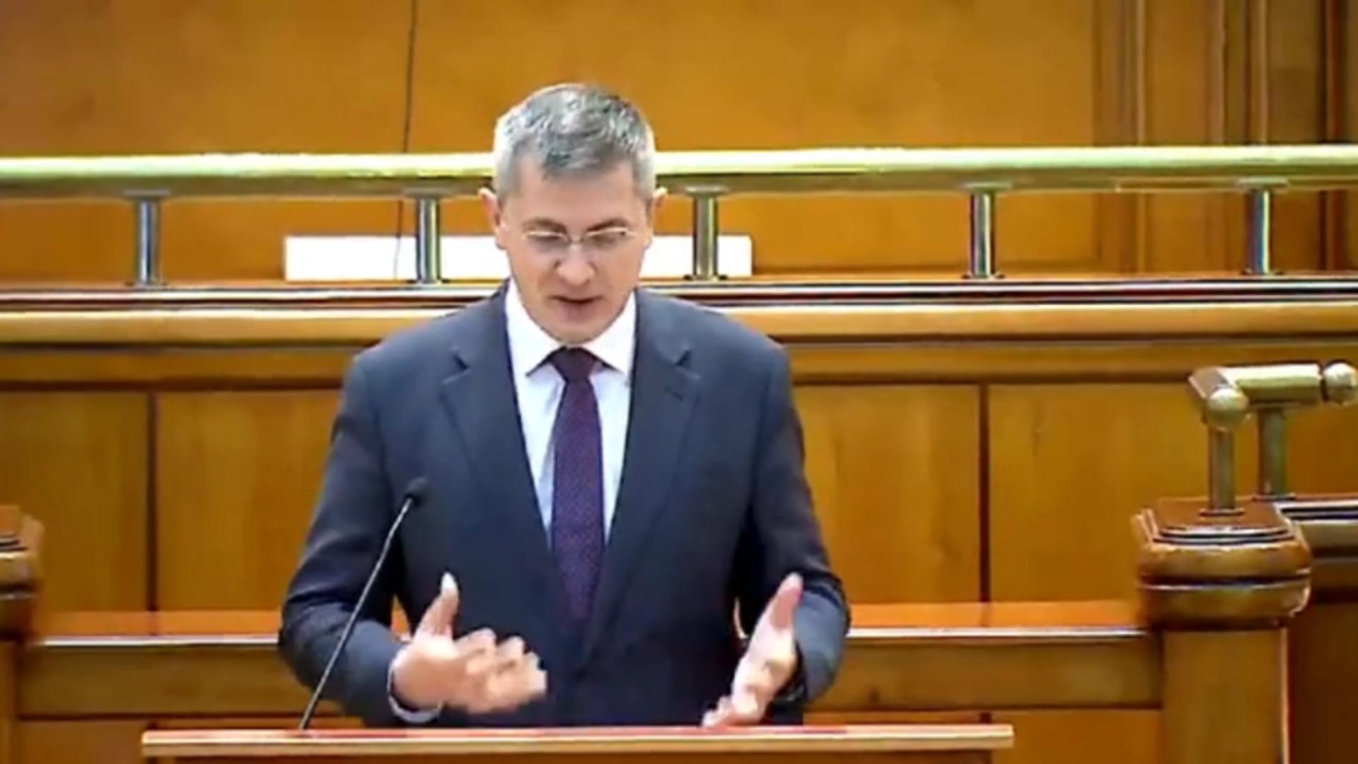 Dan Barna, discurs în plenul Parlamentului