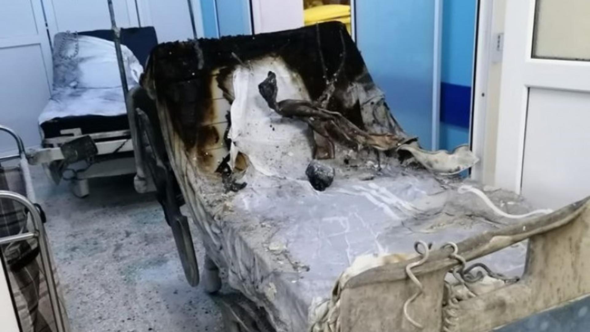 Incendiu devastator la Spitalul din Piatra Neamț
