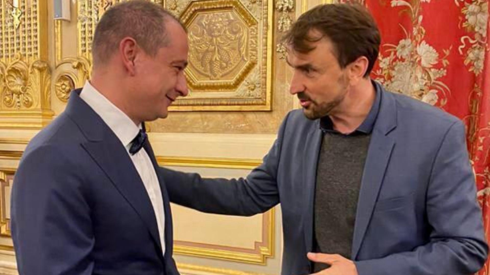 Primarul Sectorului 4, Daniel Băluță, a participat, zilele trecute, la o ceremonie găzduită la Lyon, în  Franța. Foto/Primărie