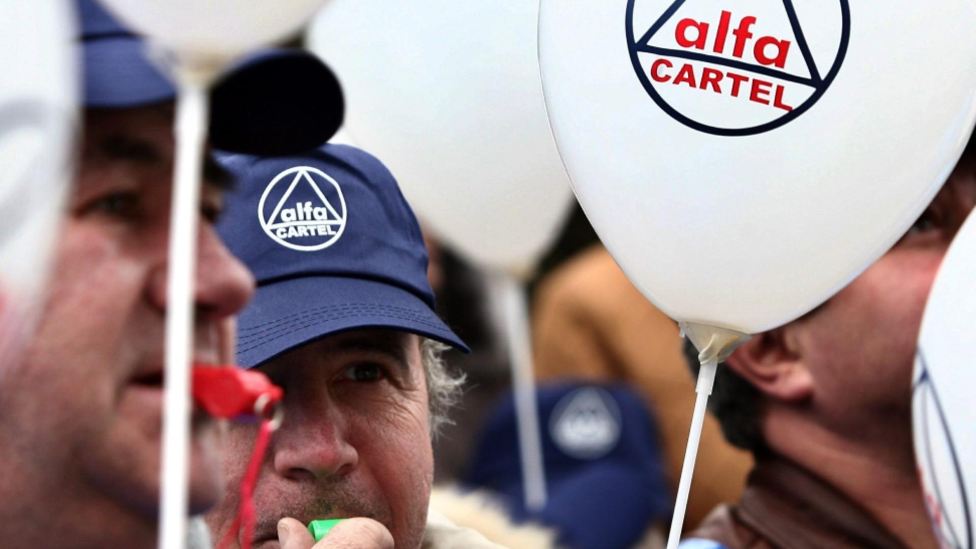 Protest sindicaliști CNS Cartel Alfa
