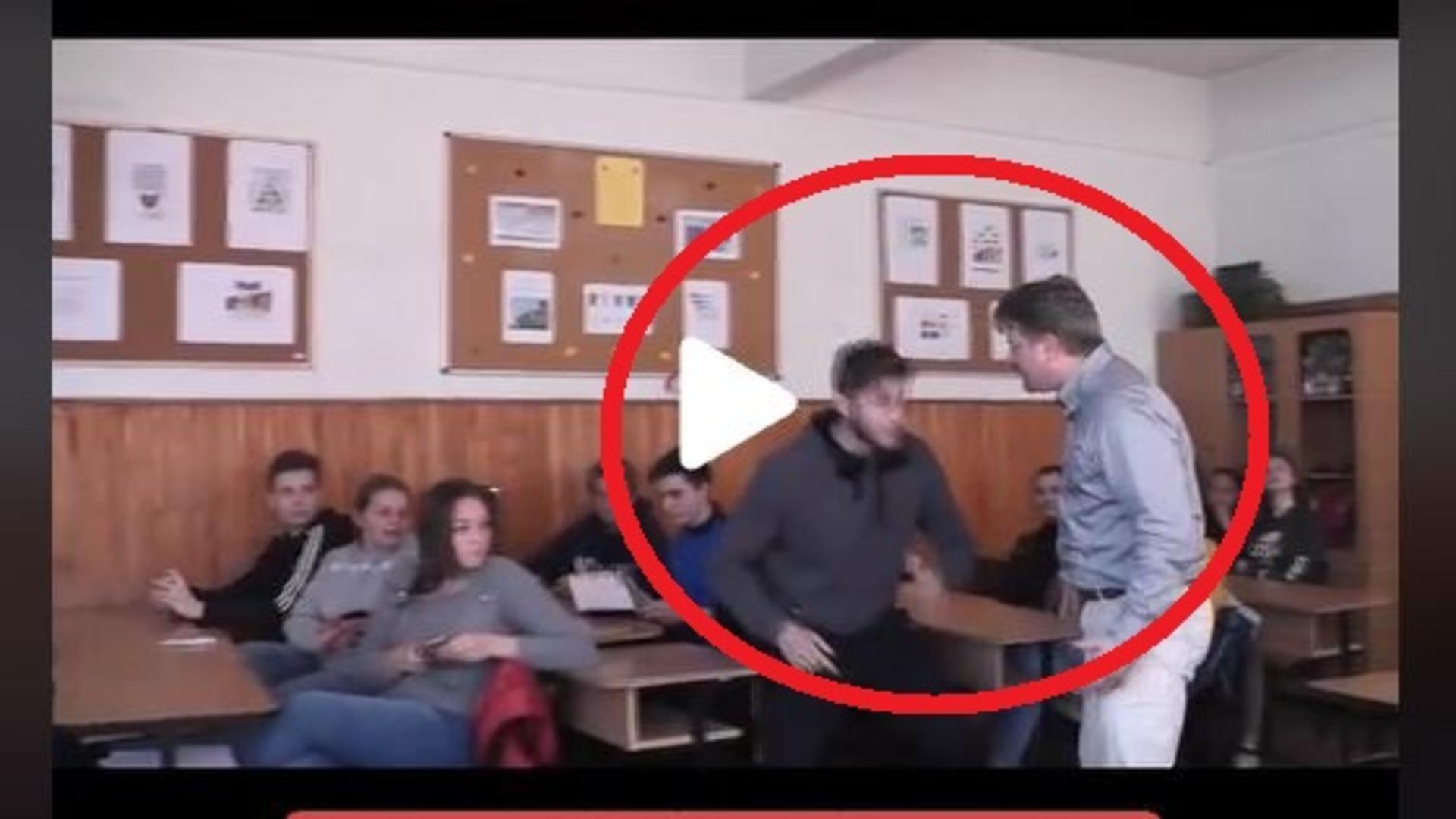 Imagini dintr-o scoala din Romania