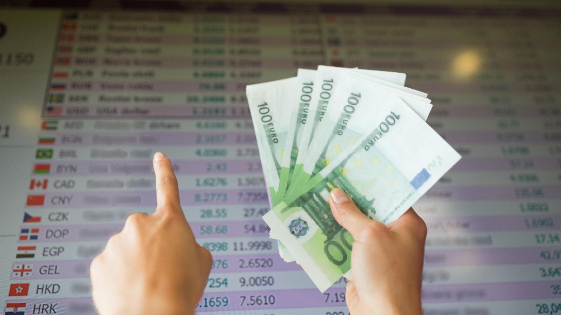 Leul și-a mai revenit în lupta cu euro. Foto/Profimedia