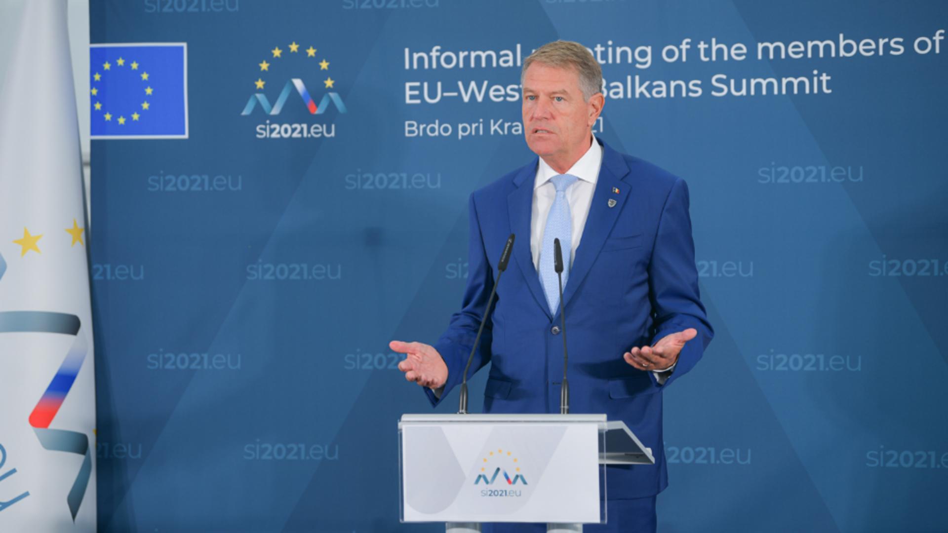 Klaus Iohannis, președintele României, Consiliul European, Slovenia, 6 octombrie 2021 Foto: presidency.ro
