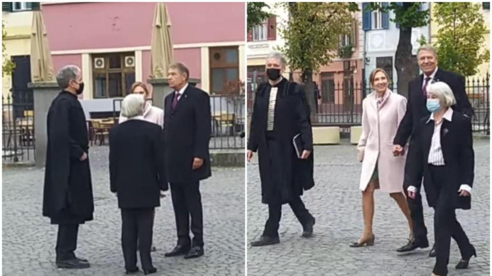 Președintele Iohannis și soția sa, fără mască de protecție în Sibiu