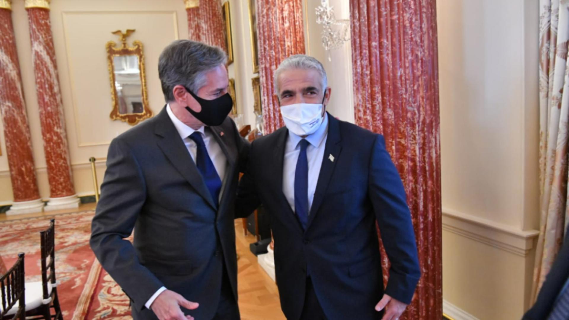 Ministrul de Externe israelian Y. Lapid și secretarul de stat SUA A. Blinken