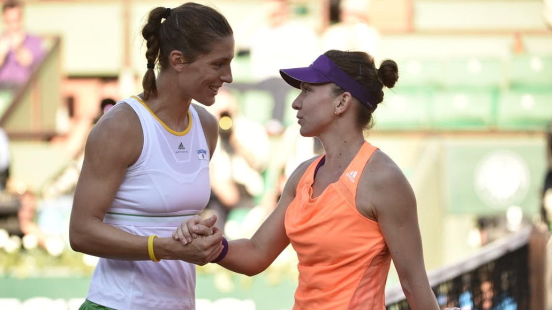 Simona Halep alături de Andrea Petkovic