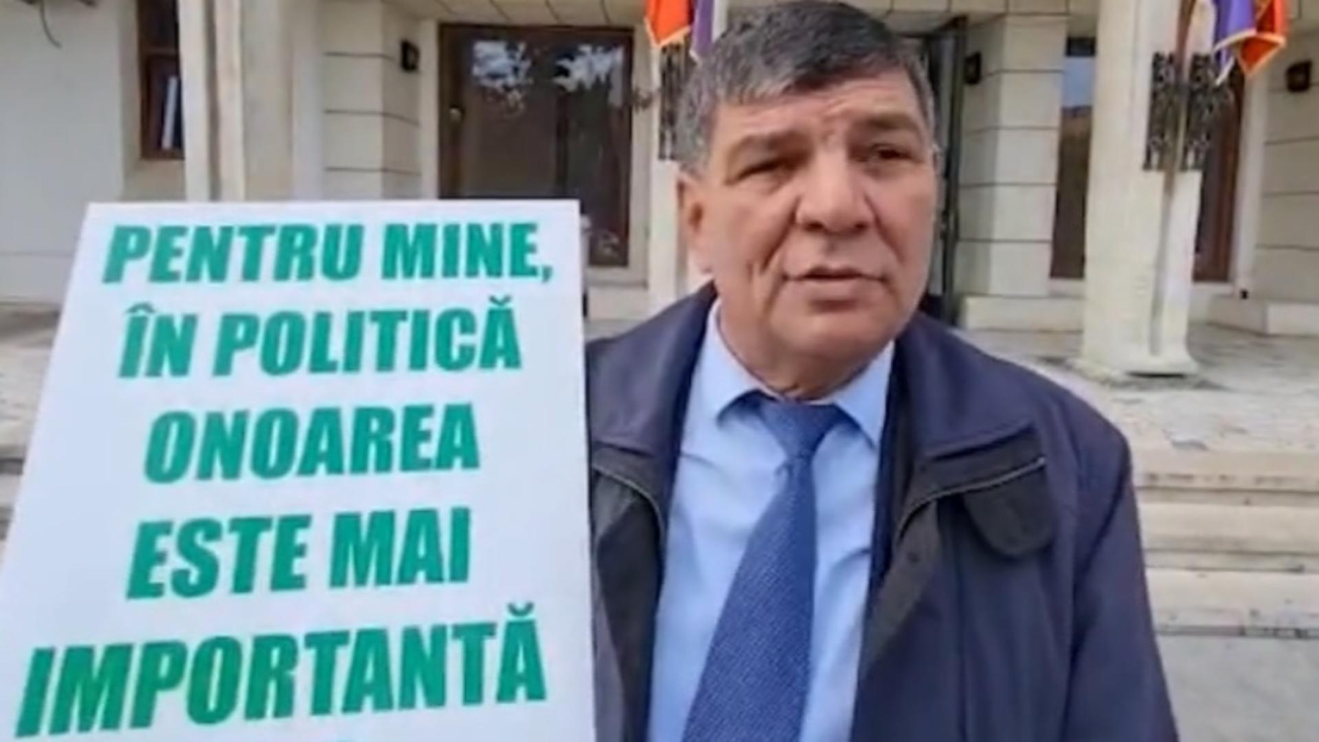 Primar fără bani de la Guvern, în greva foamei