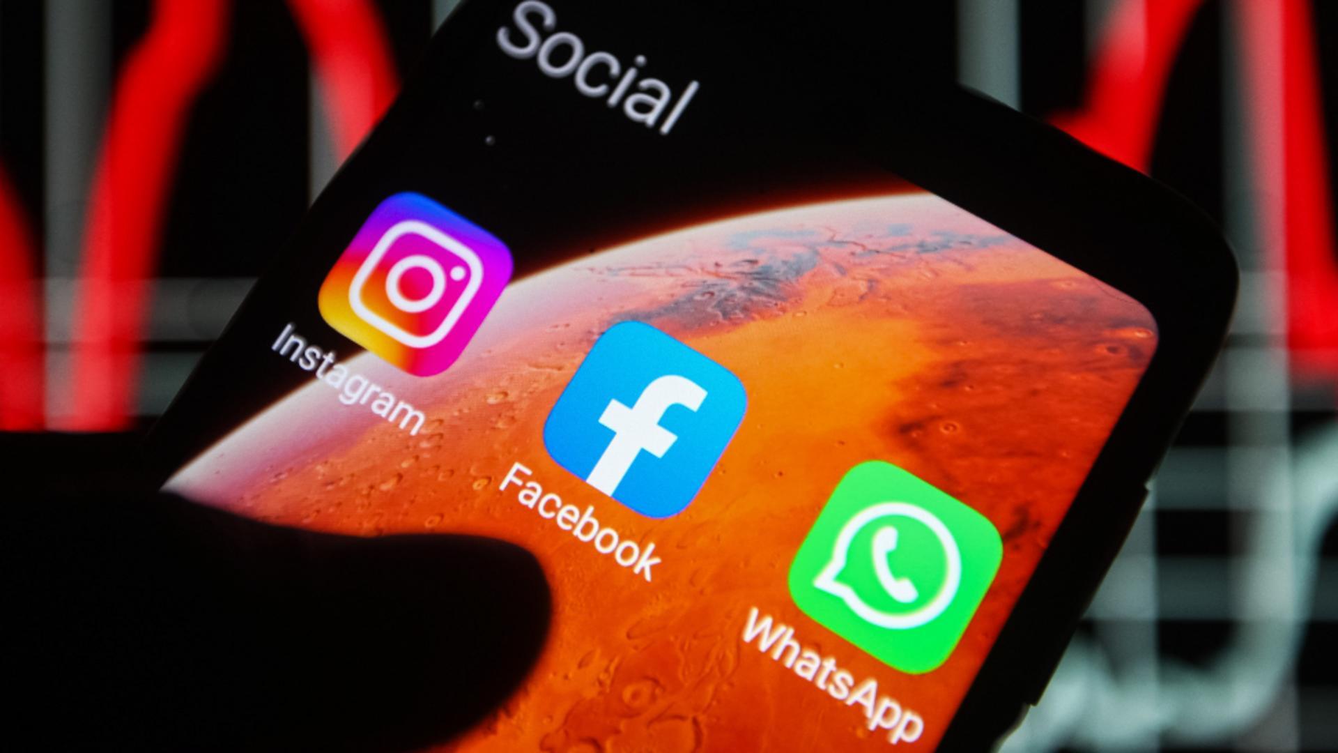Facebook, Instagram şi WhatsApp au avut din nou probleme / FOTO: Profi Media