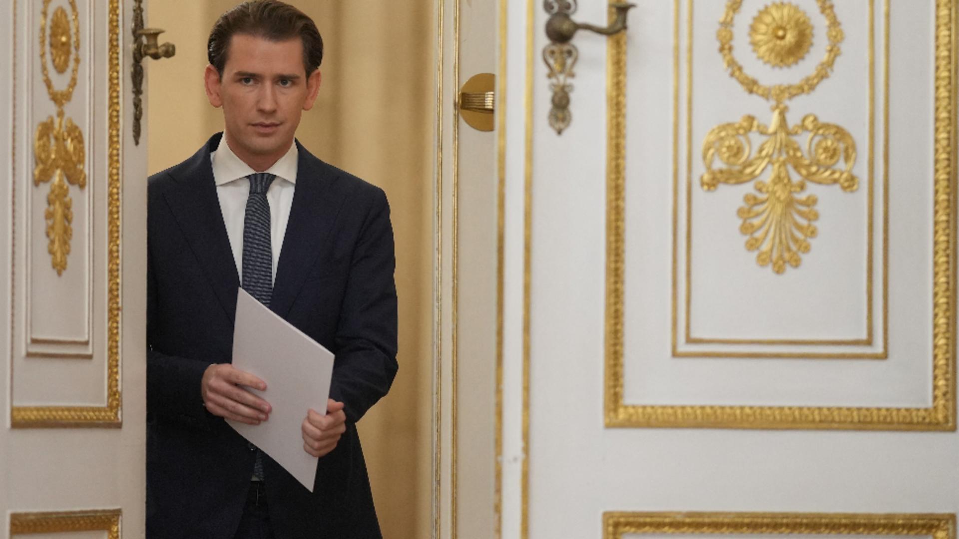 Cancelarul Austriei, Sebastian Kurz, și-a prezentat demisia. Foto/Profimedia